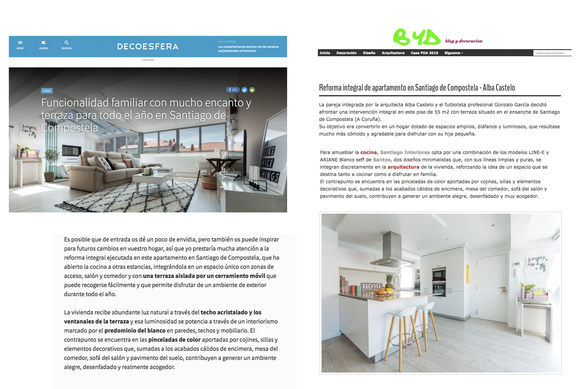 Santiago Interiores en los medios: una cocina abierta | Cocinas Santos | Santiago Interiores | Publicación en Decoesfera y Blog y Decoración