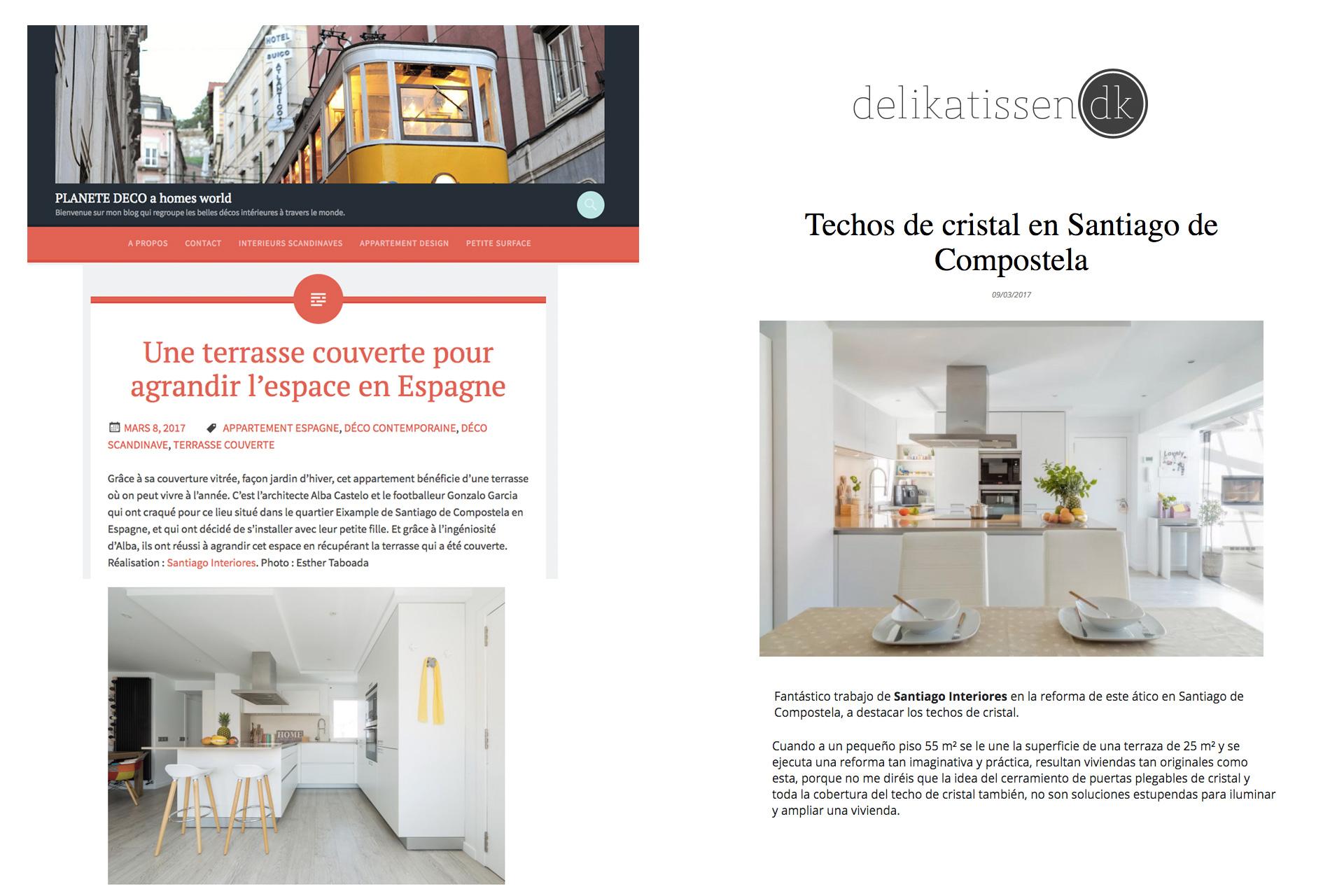 Santiago Interiores en los medios: una cocina abierta | Cocinas Santos | Santiago Interiores | Publicación en Planete Deco y Delikatissen