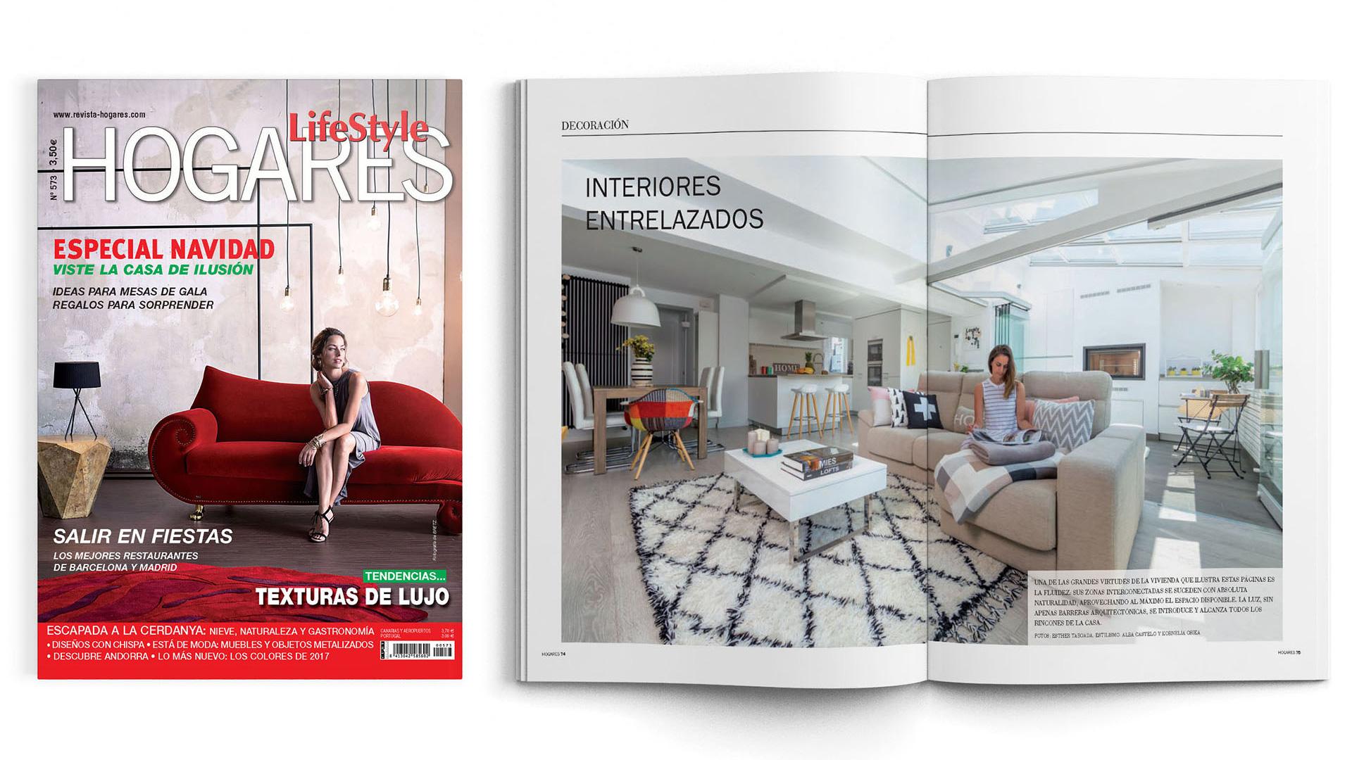 Santiago Interiores en los medios: una cocina abierta | Cocinas Santos | Santiago Interiores | Publicación en Hogares