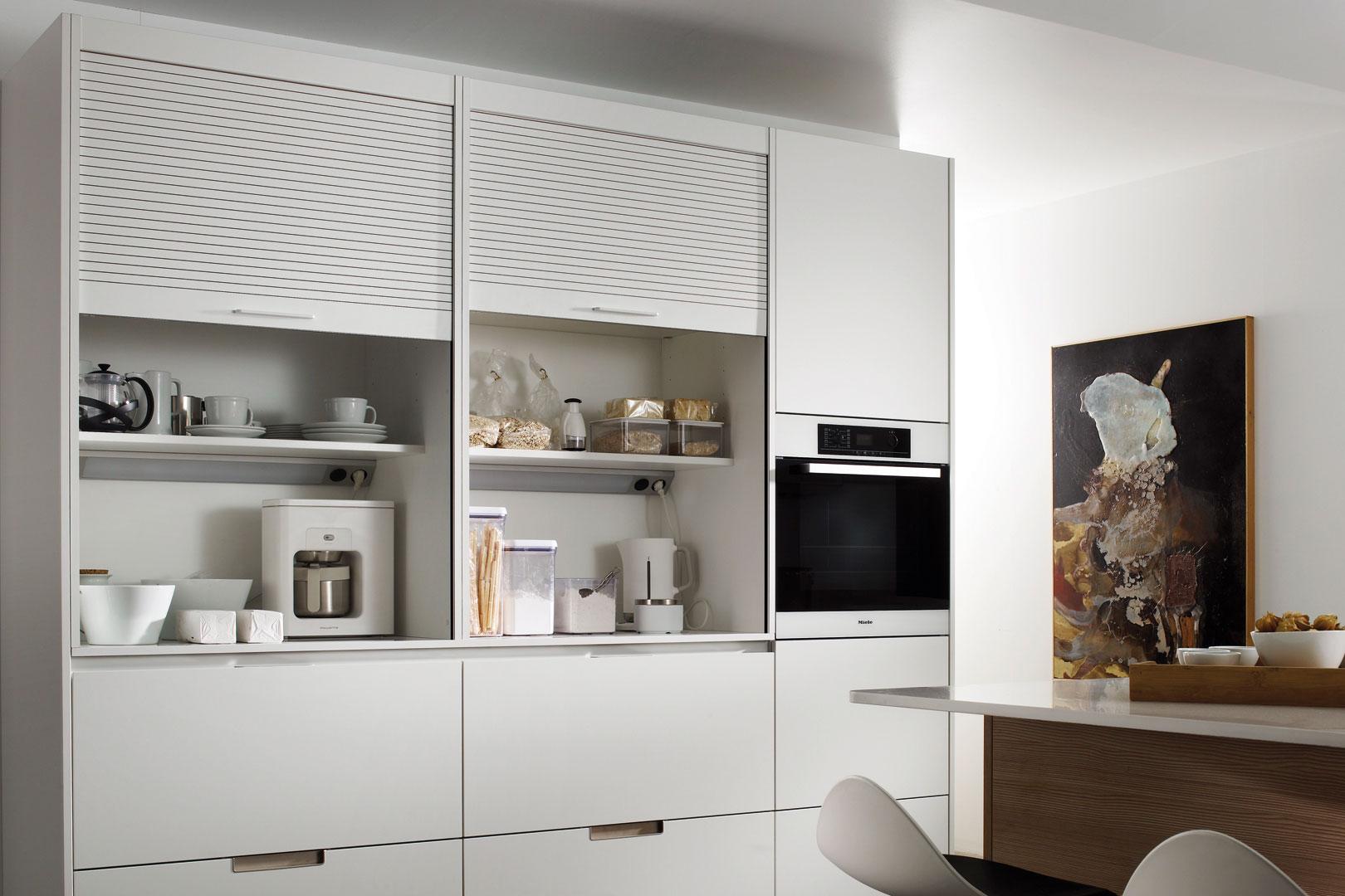 Muebles persiana para guardar pequeños electrodomésticos