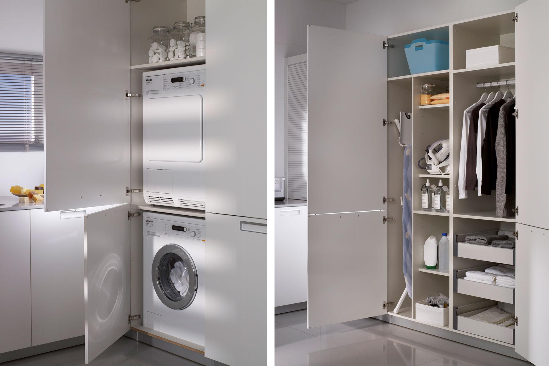 Cómo aprovechar el espacio en la zona de lavandería | Cocinas Santos | Santiago Interiores