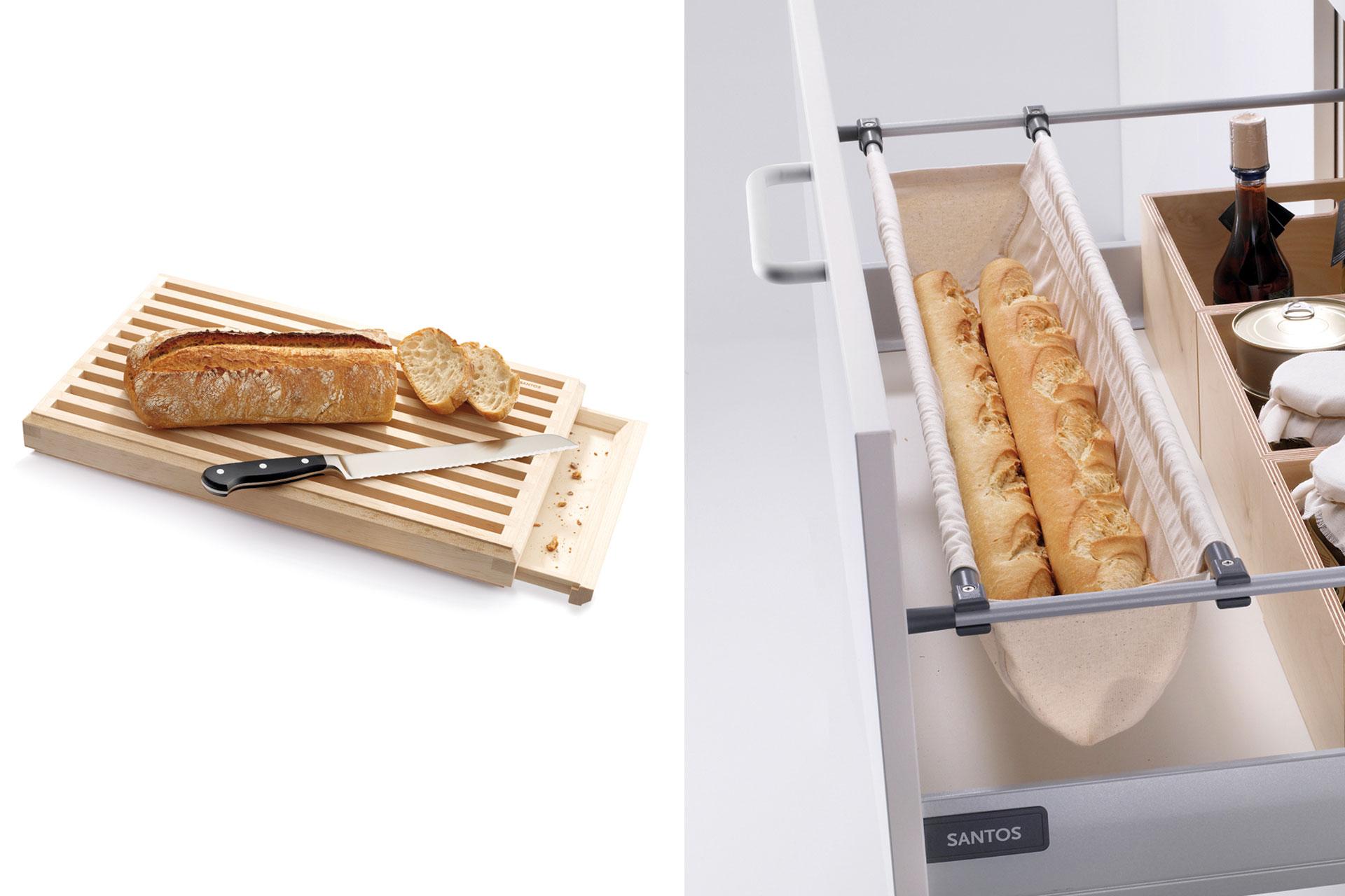 Accesorios de cocina Santos: orden y belleza | Panera y porta-baguette | Santiago Interiores