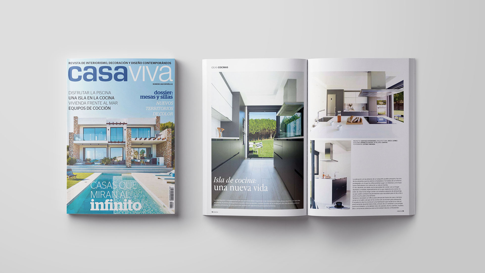 Santiago Interiores en los medios: una cocina con vistas | Cocinas Santos | Santiago Interiores