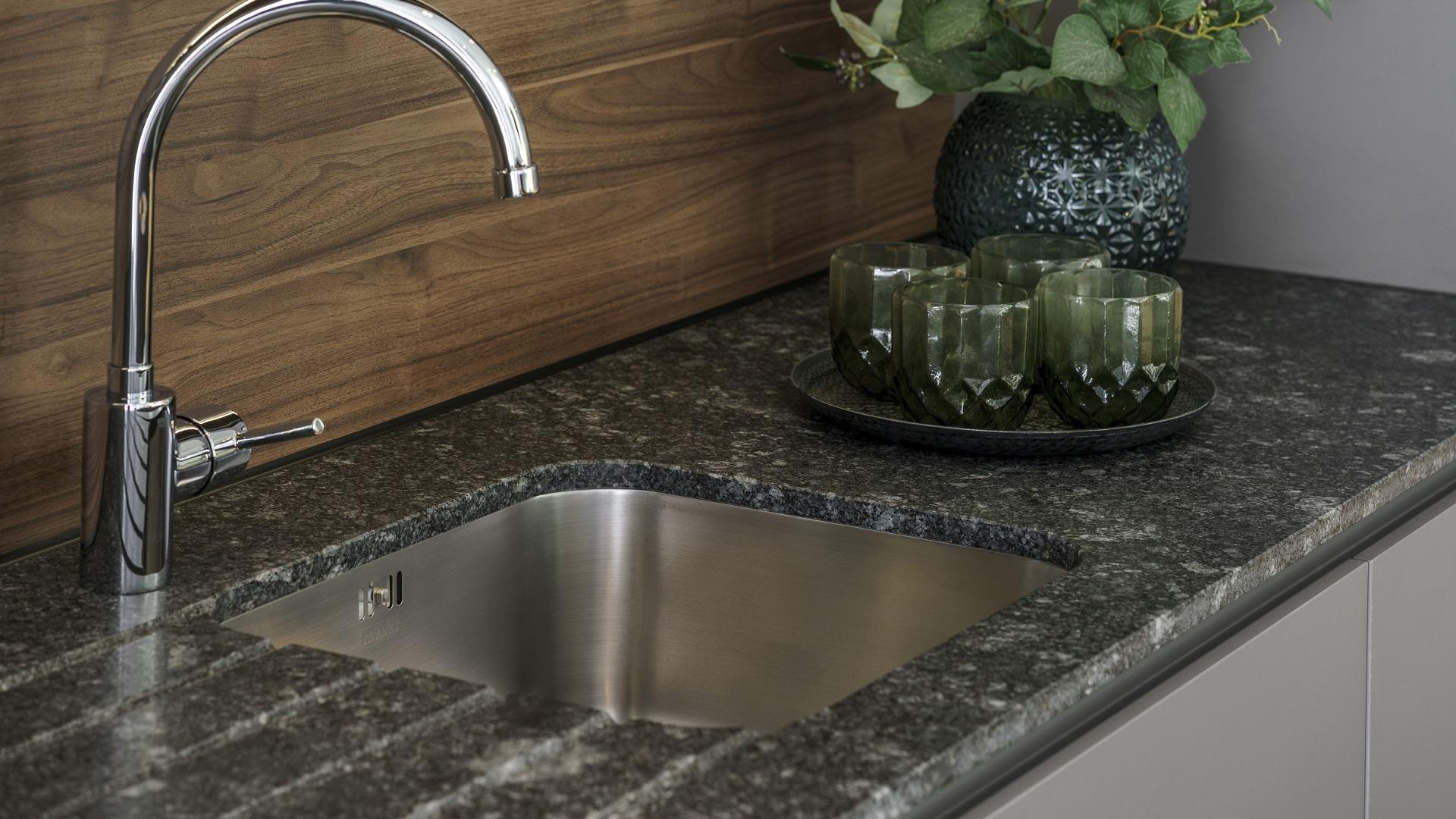 Tipos de fregaderos formas materiales medidas colores - Medida encimera cocina ...