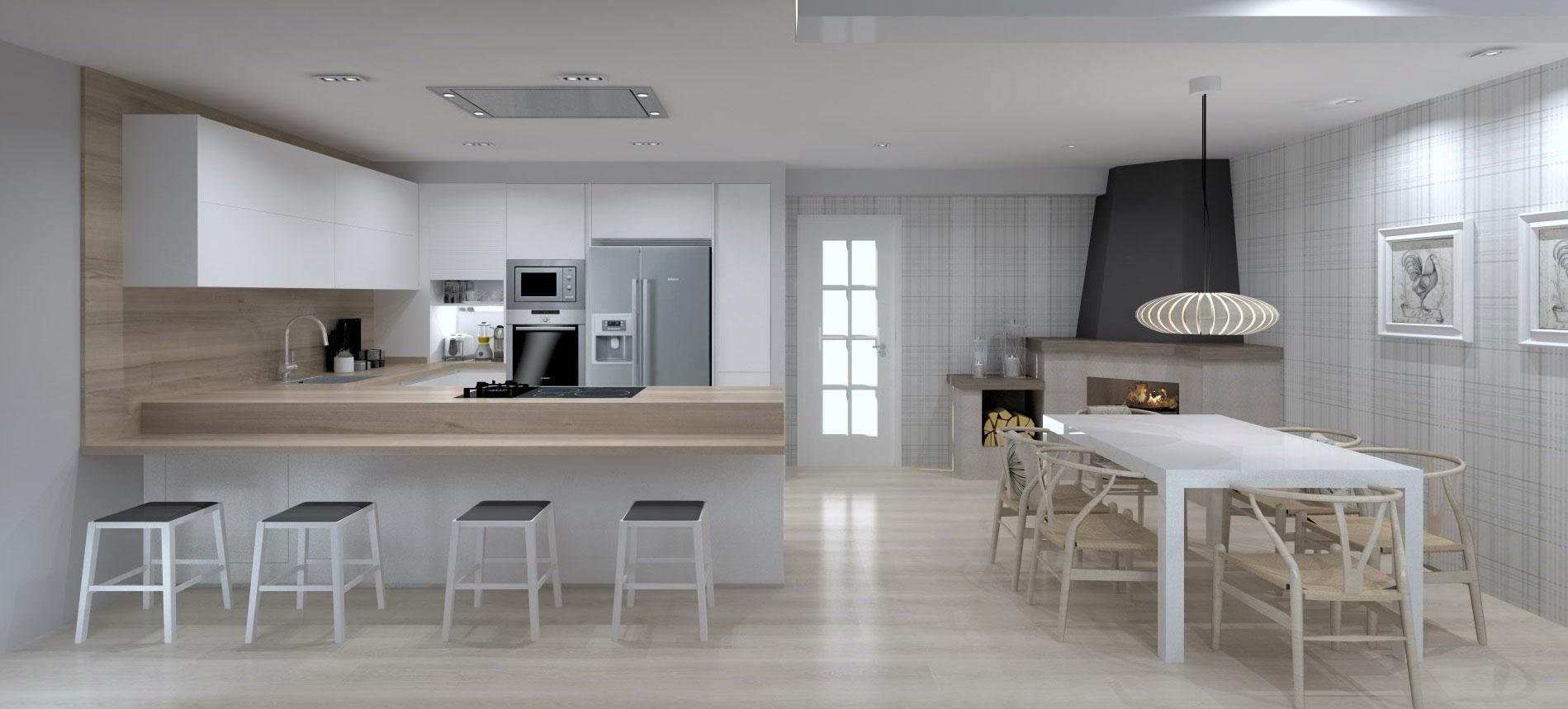 Proyecto Santiago Interiores - Una cocina para vivir - Cocinas Santos