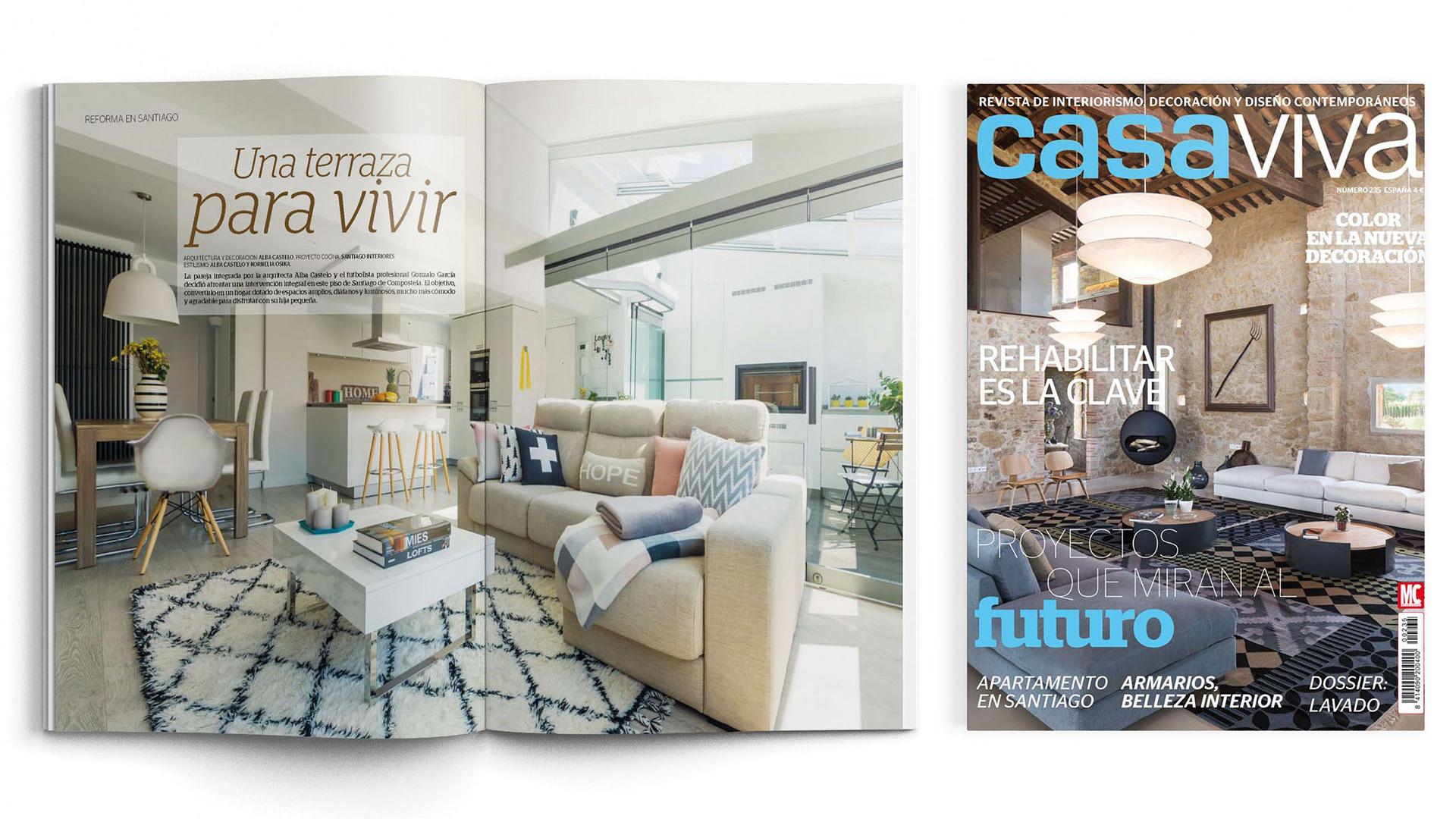 Santiago Interiores en los medios: una cocina abierta | Cocinas Santos | Santiago Interiores | Publicación en Casa Viva