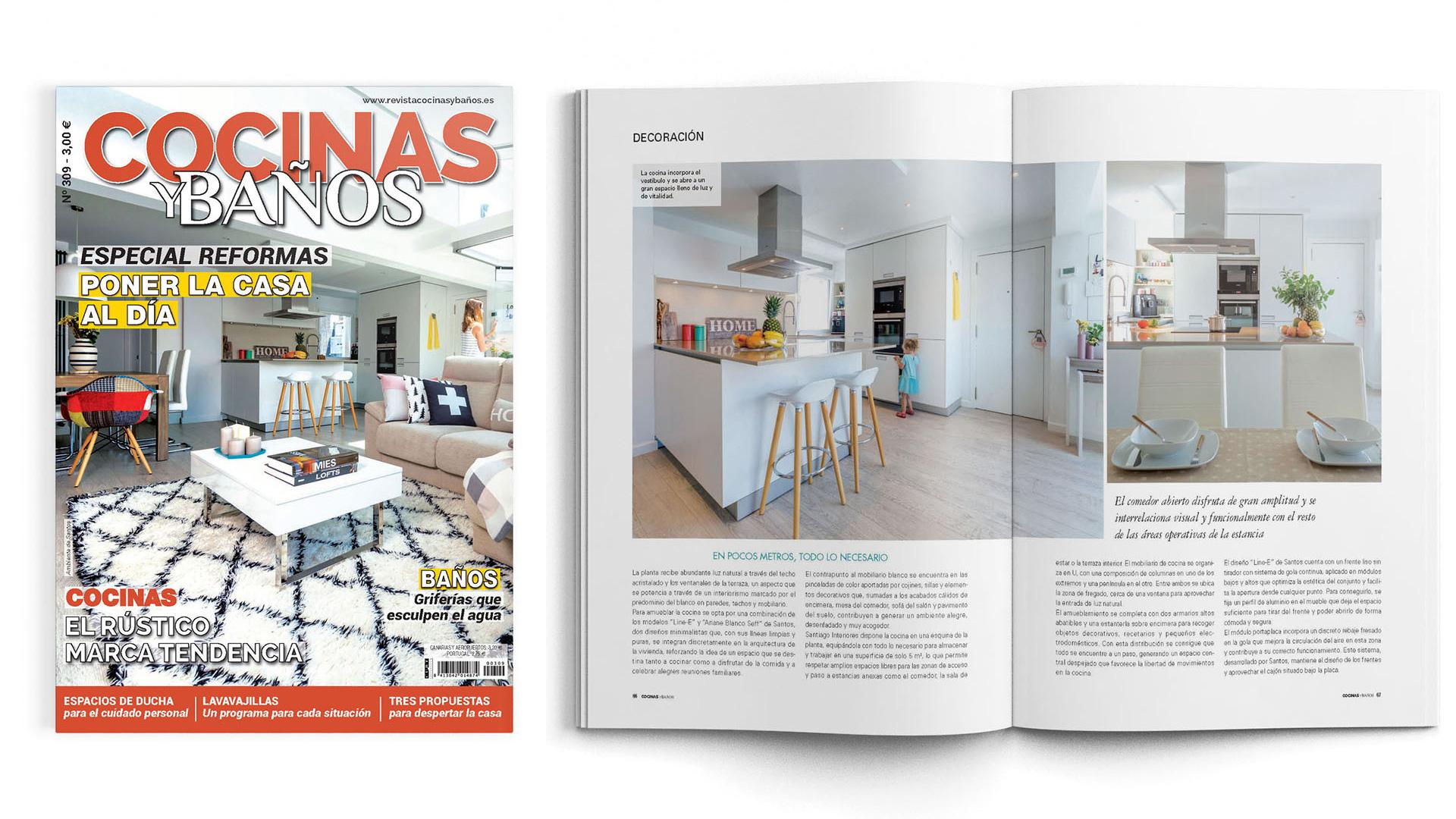 Santiago Interiores en los medios: una cocina abierta | Cocinas Santos | Santiago Interiores | Publicación en Cocinas y Baños
