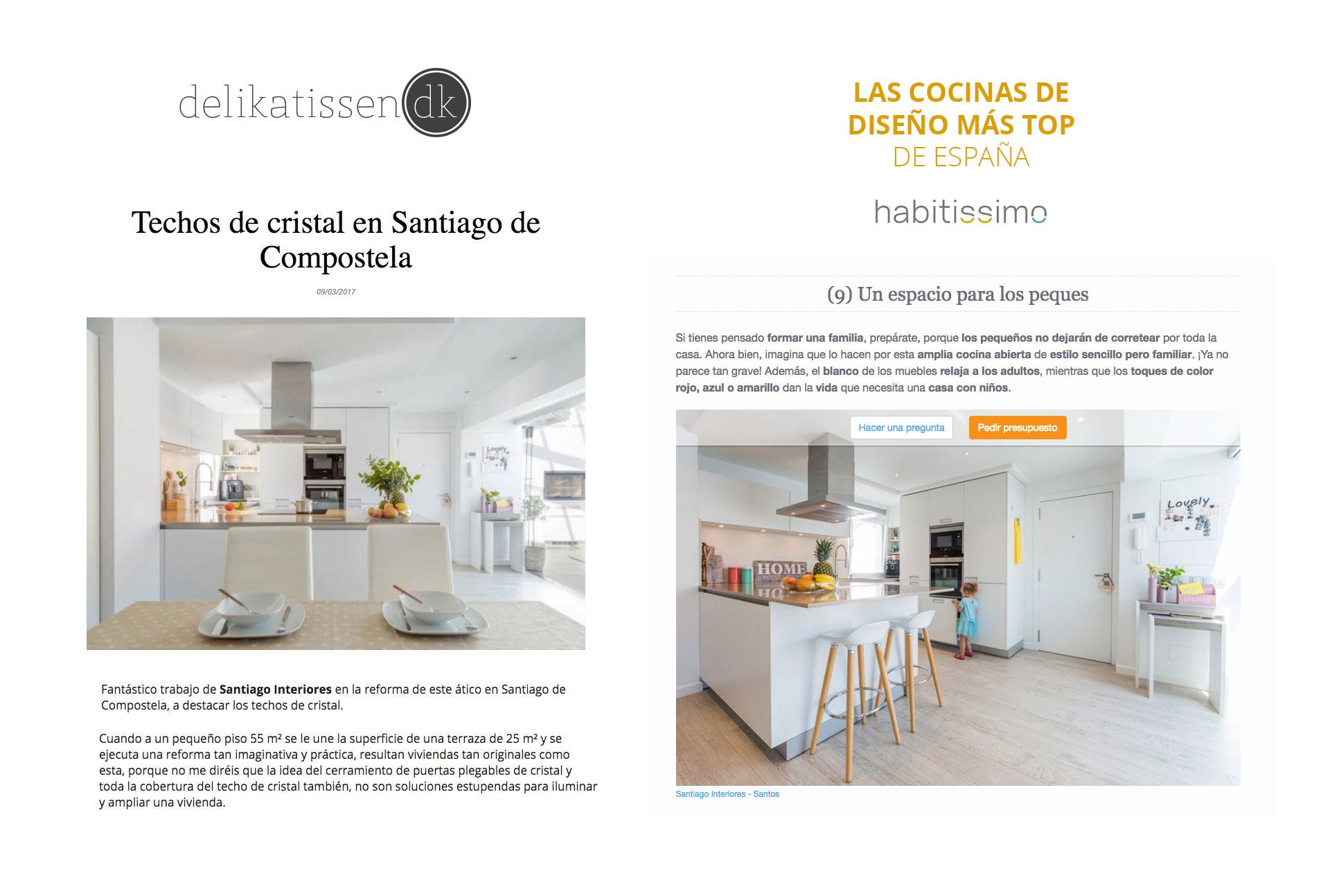 Santiago Interiores en los medios: una cocina abierta | Cocinas Santos | Santiago Interiores