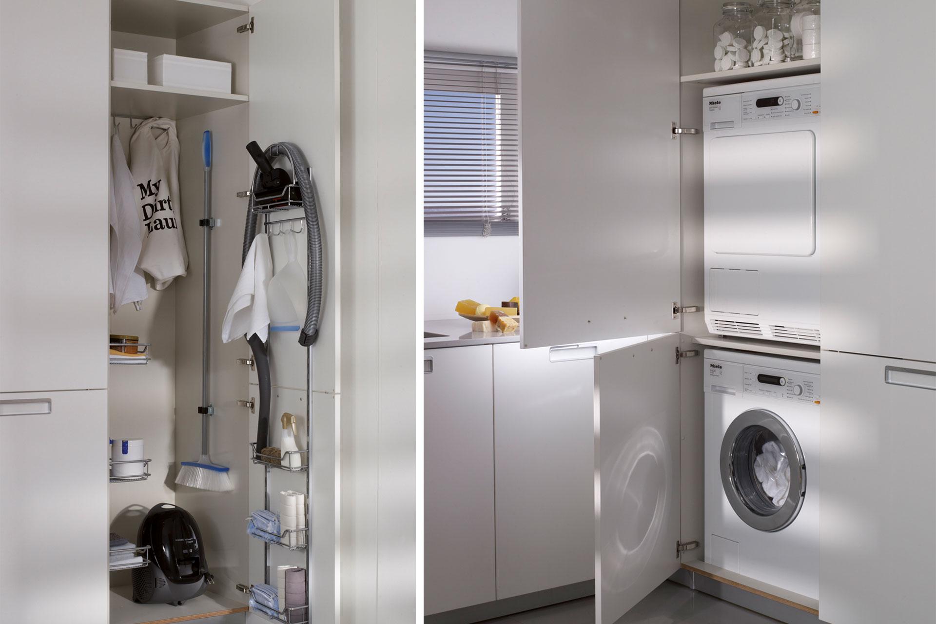 Zona almacenaje de productos de limpieza en la cocina