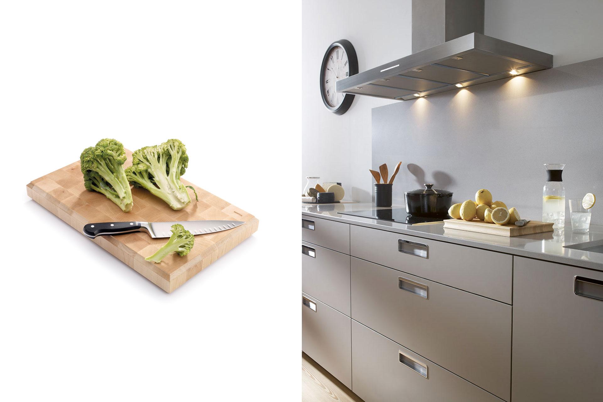 Accesorios de cocina Santos: orden y belleza   Tablas   Santiago Interiores