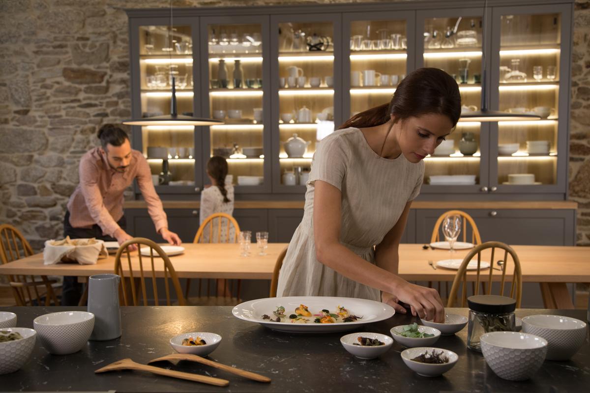 Cocinando en cocinas abiertas Santos