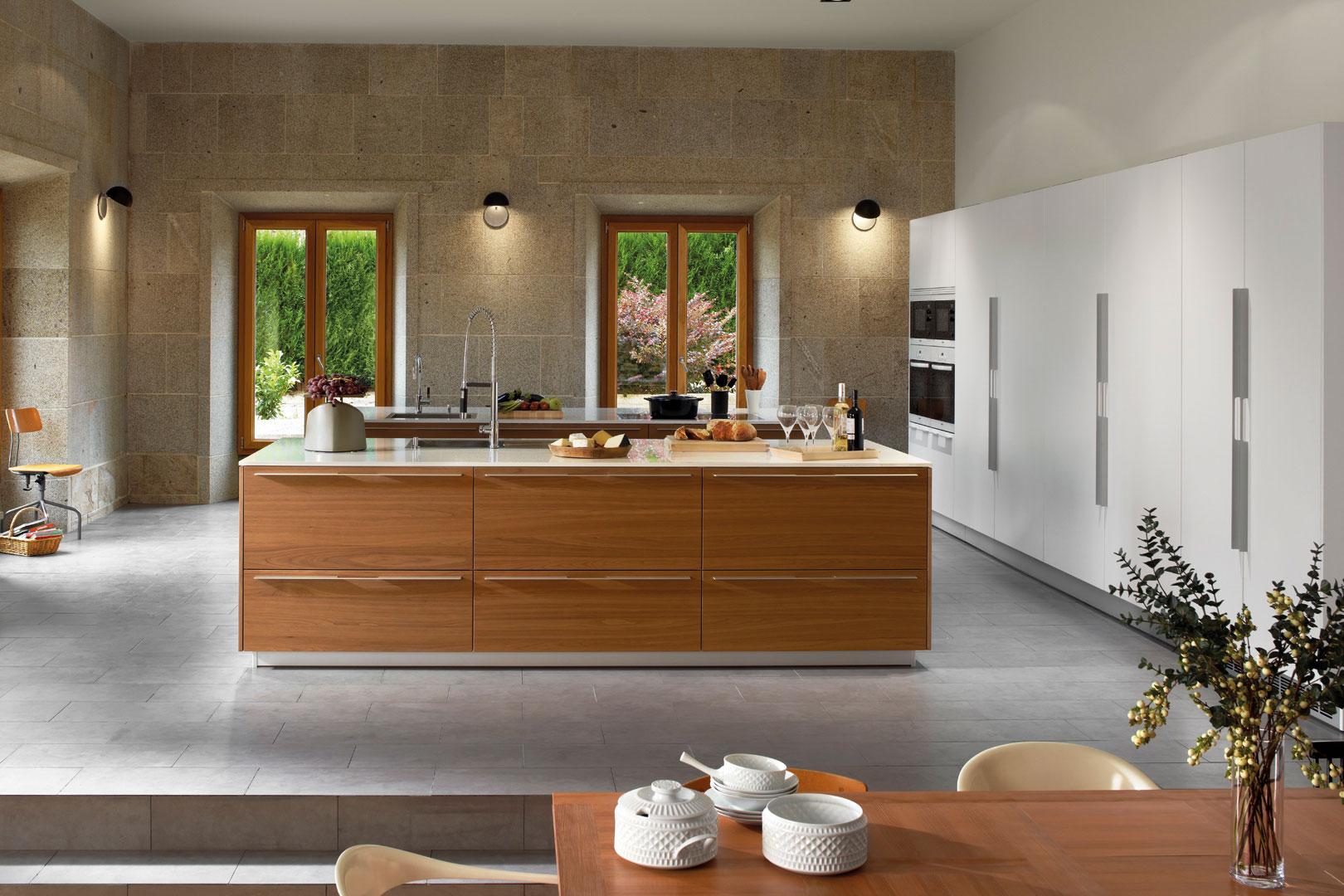 Tendencias: cocinas abiertas | Wood Natura | Cocinas Santos | Santiago Interiores