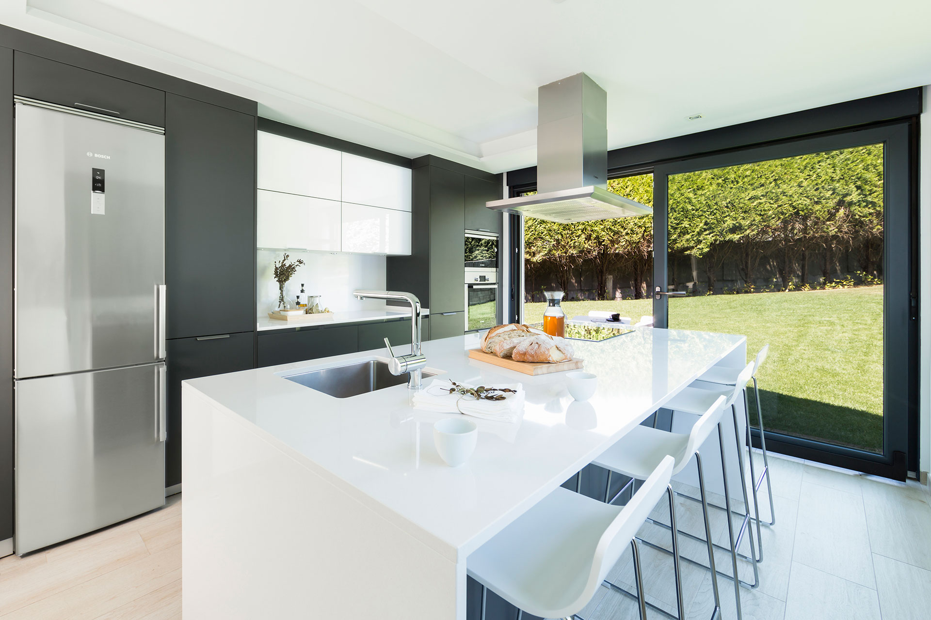 Tendencias: cocinas grises | Proyecto de Santiago Interiores, distribuidor exclusivo de cocinas Santos