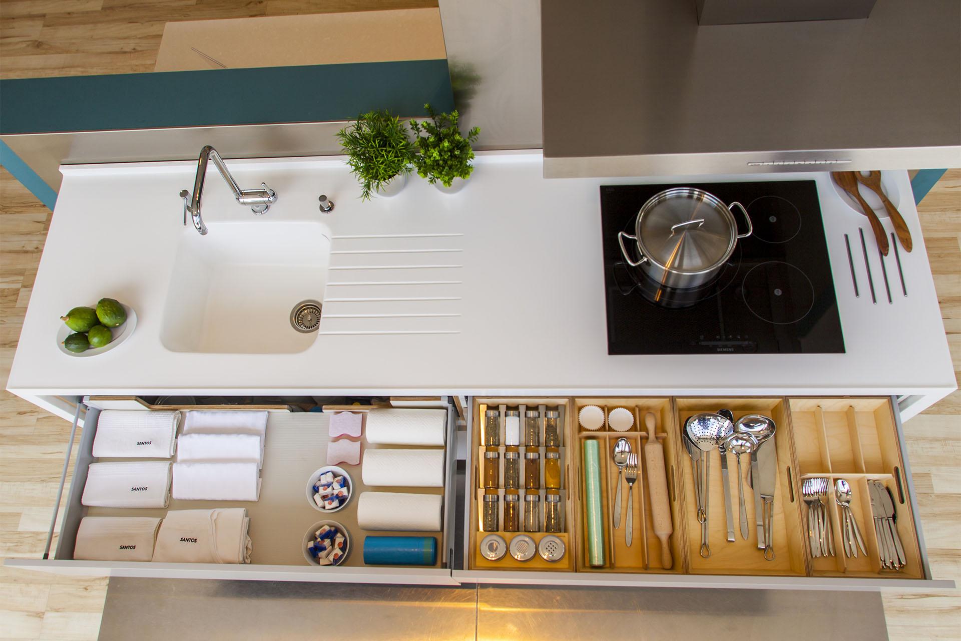 Encimeras de cocina | Corian | Cocinas Santos | Santiago Interiores