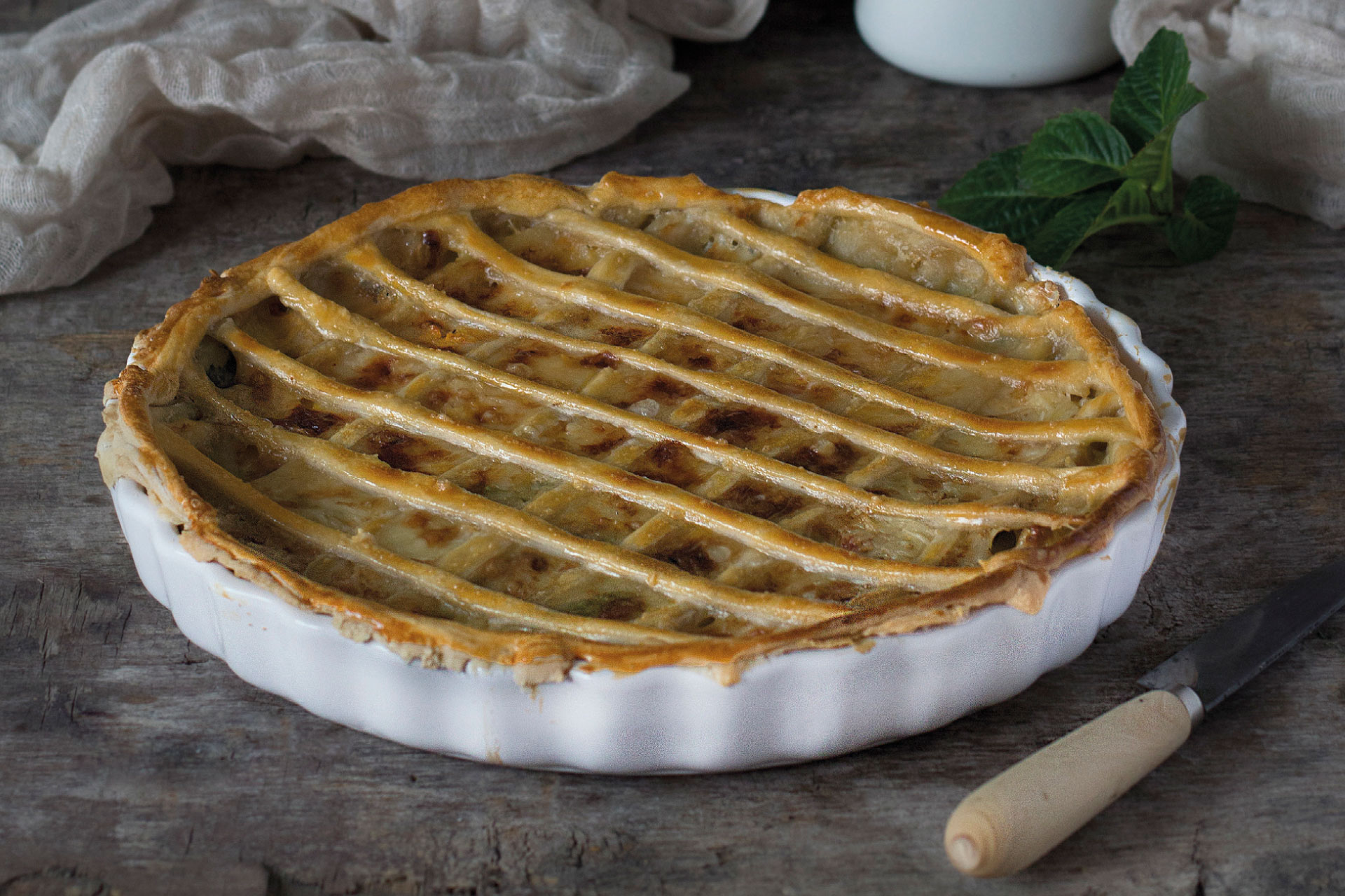 Receta de Tarta rústica salada Arcobaleno | Cocinas Santos | Santiago Interiores
