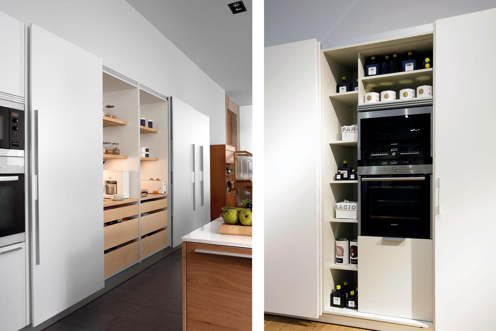 Electrodomésticos integrados: espacios limpios y armónicos   Coplanar   Cocinas Santos   Santiago Interiores