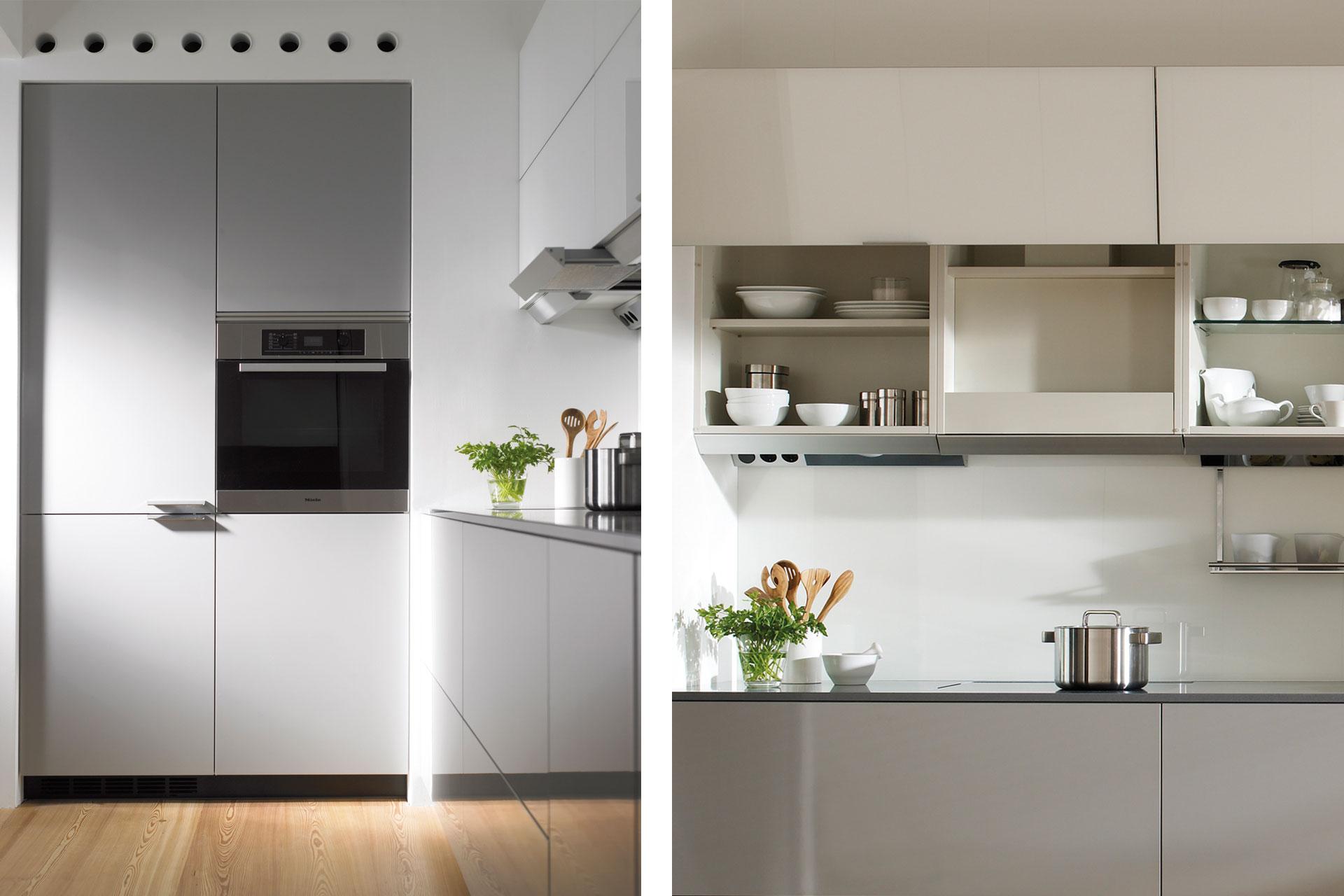 Electrodomésticos integrados: espacios limpios y armónicos   Tubos de ventilación   Cocinas Santos   Santiago Interiores