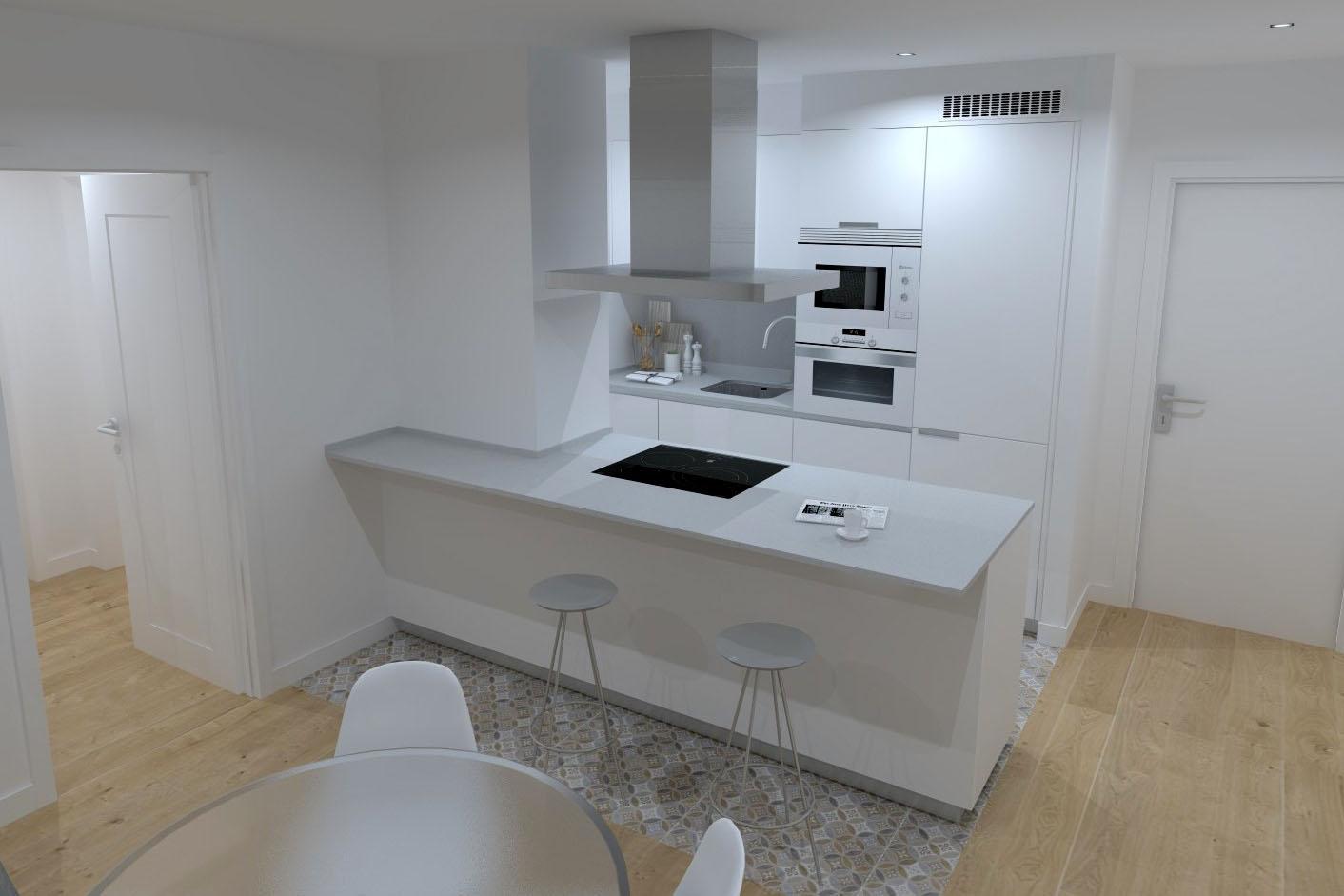 5 ideas para delimitar la cocina del salón | Cocinas Santos | Santiago Interiores