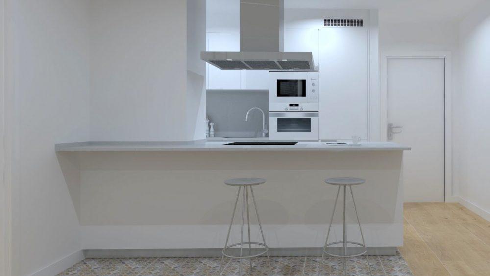 Cómo diseñar cocinas pequeñas | Cocinas Santos | Santiago Interiores