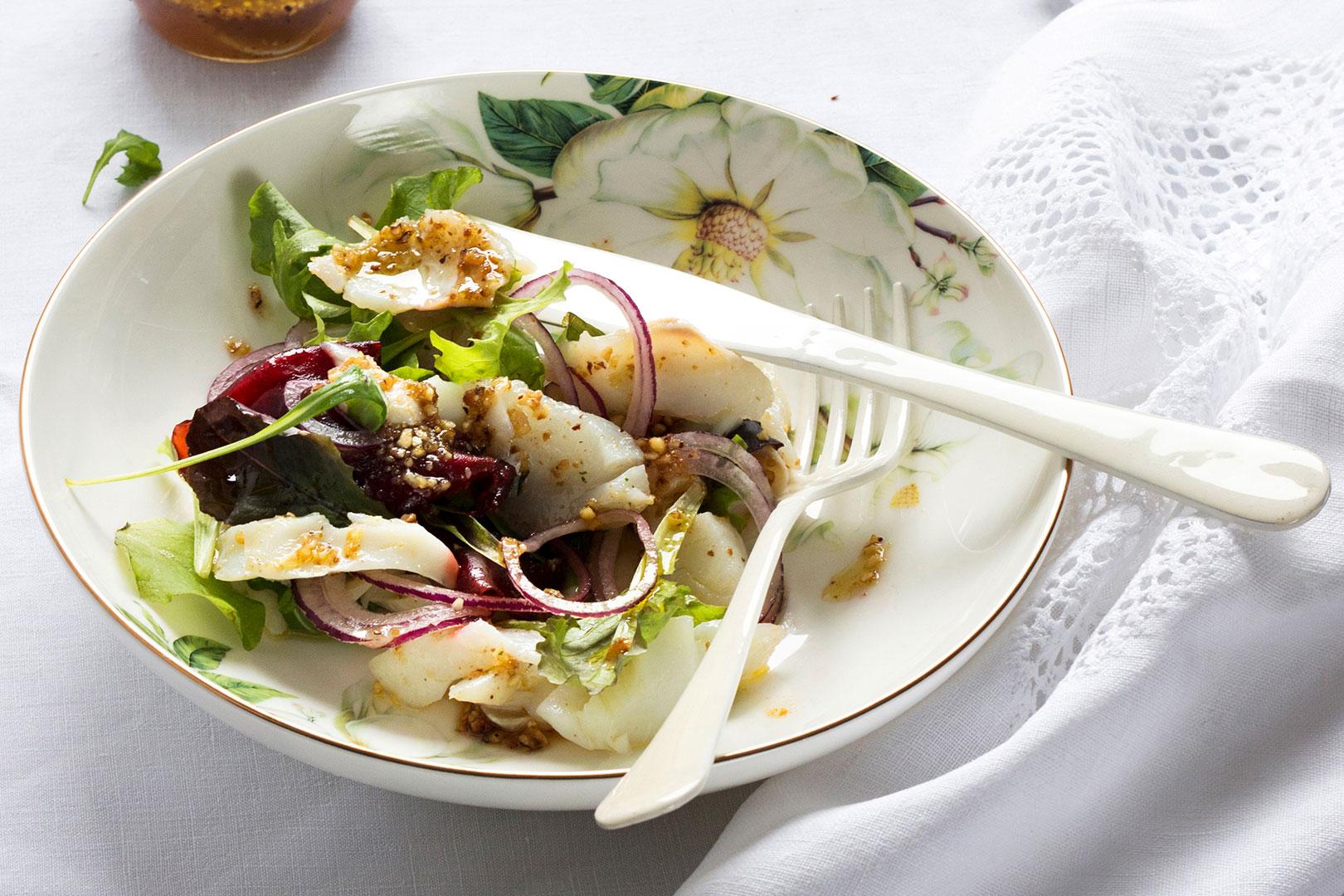 Receta de Milhojas de bacalao | Cocinas Santos | Santiago Interiores