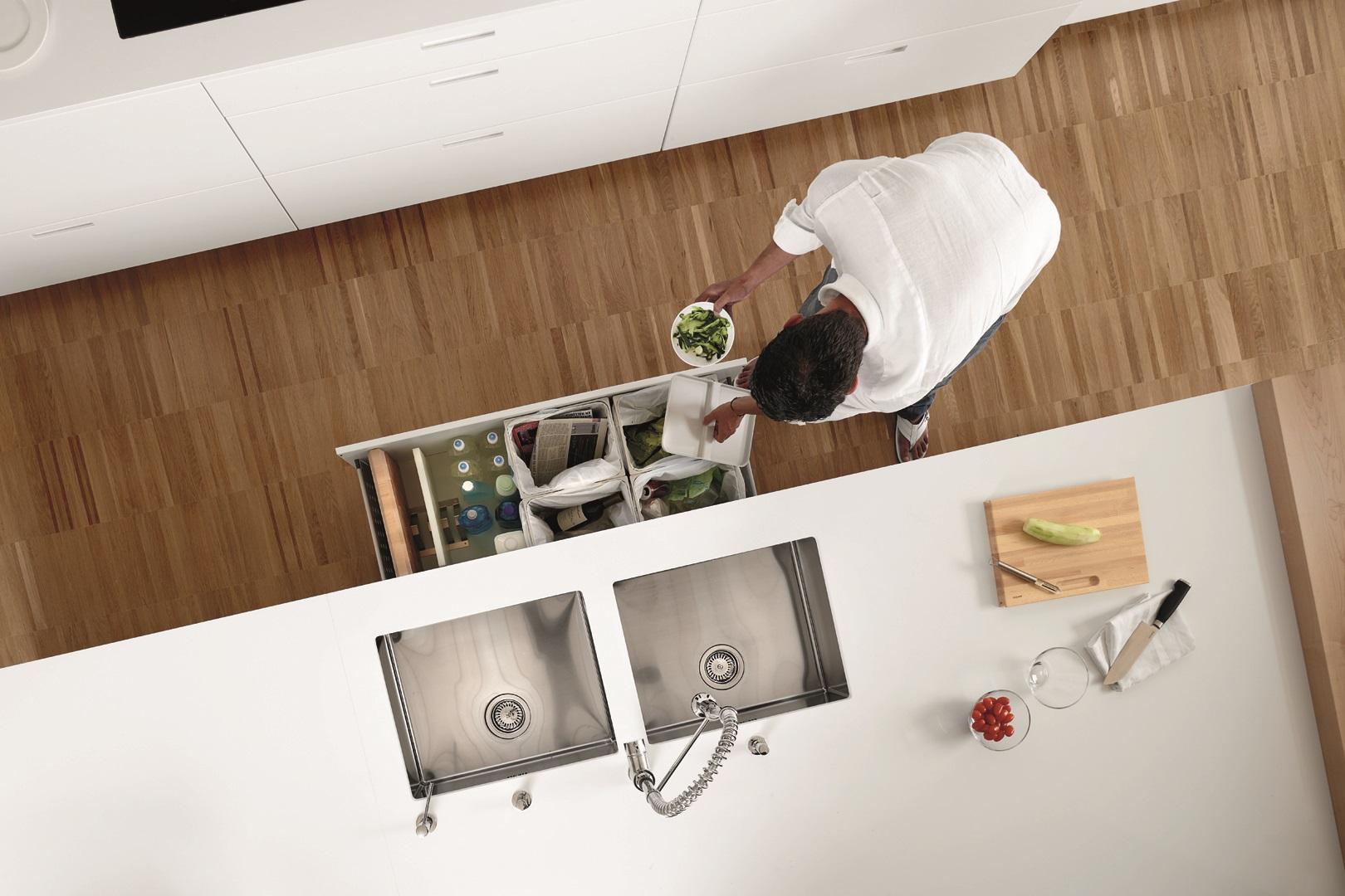 Grifo flexible de cocina