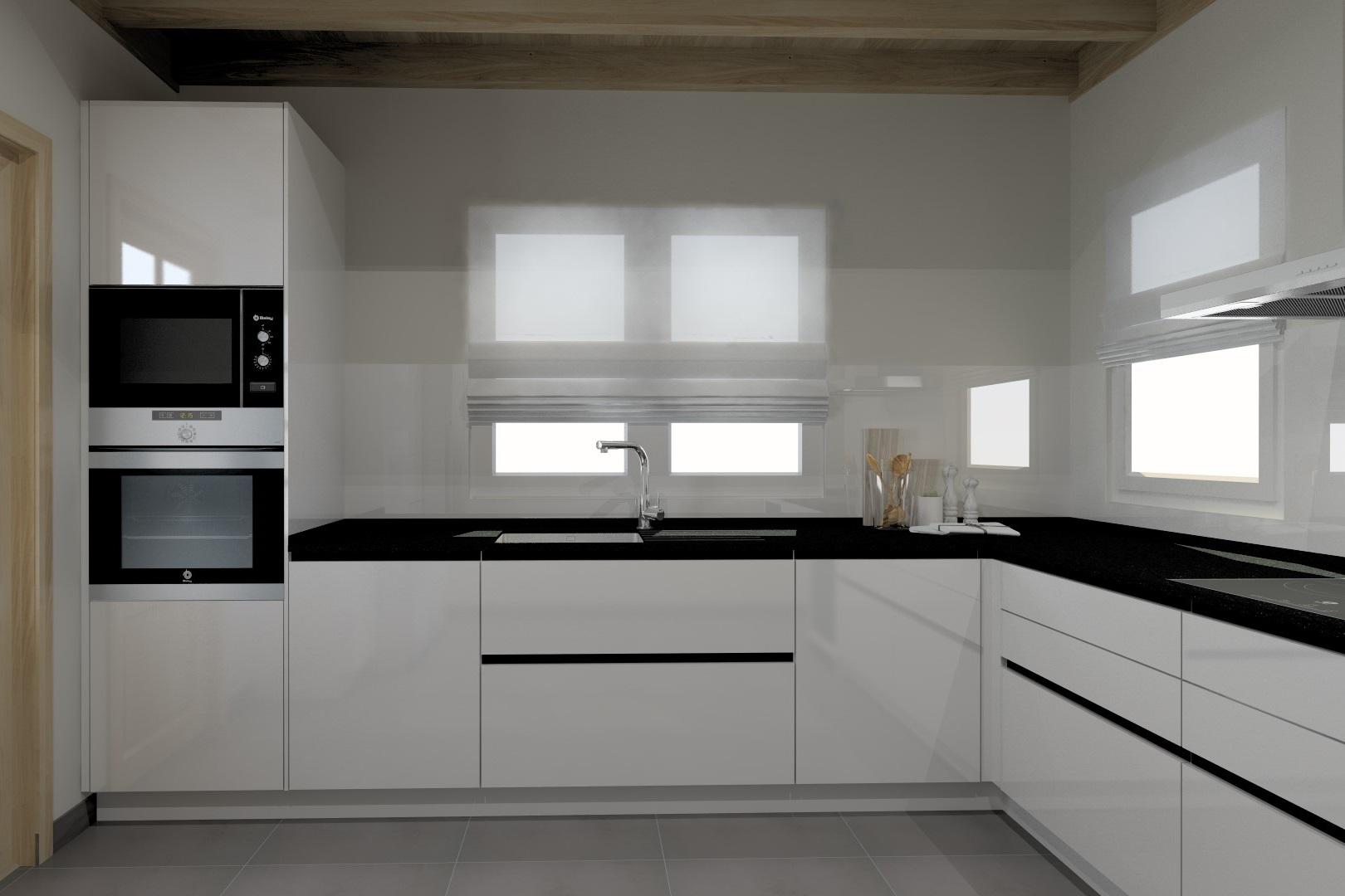 cocinas pequeñas en L modernas y actuales Santos