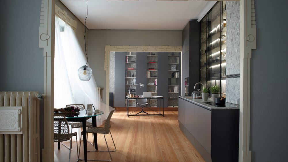Cocinas lineales espacios abiertos Santos