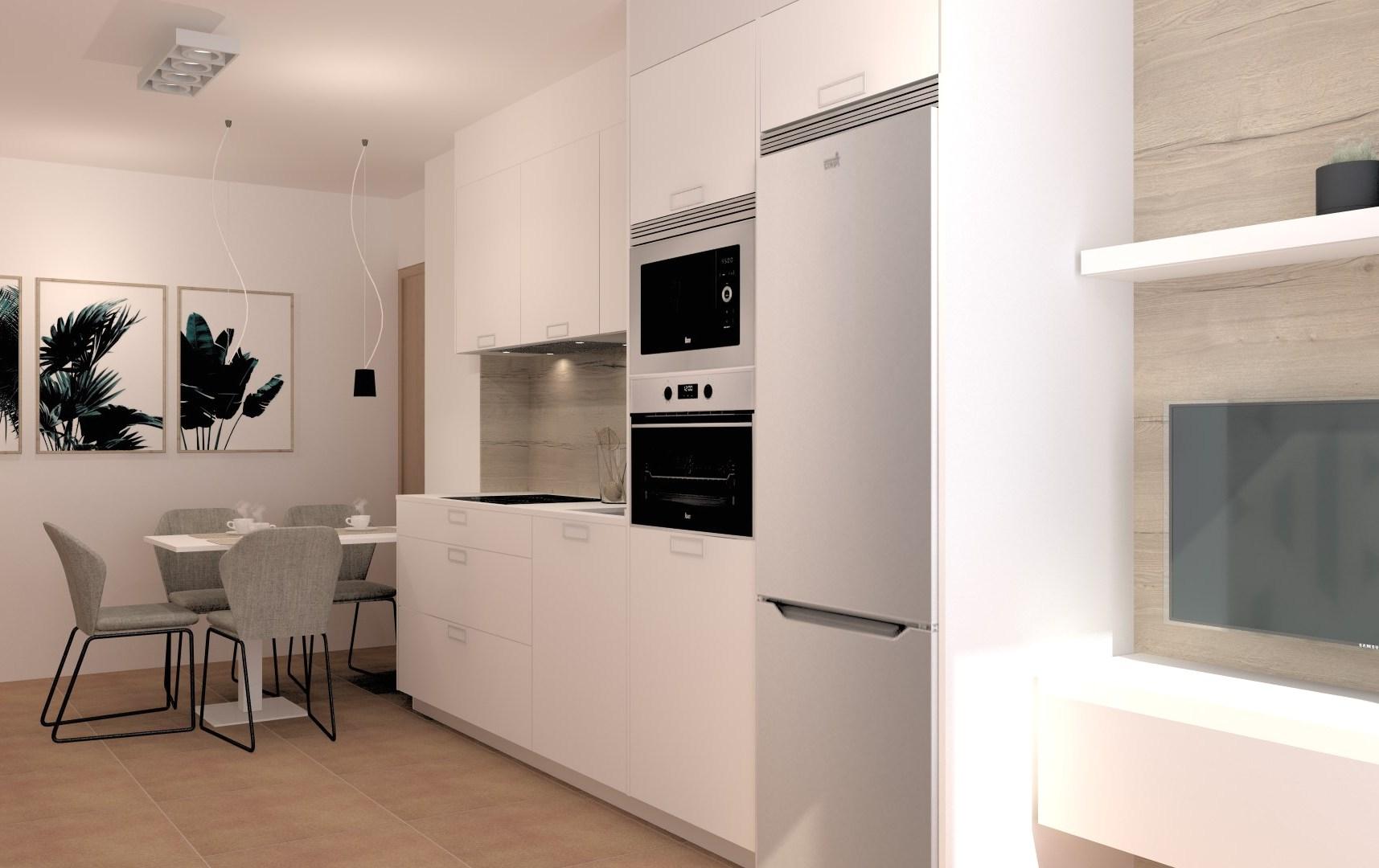 Cocinas lineales pequeñas Santiago Interiores