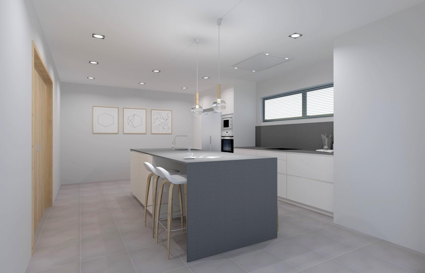 Diseño de Isla de cocina con barra. Santiago Interiores