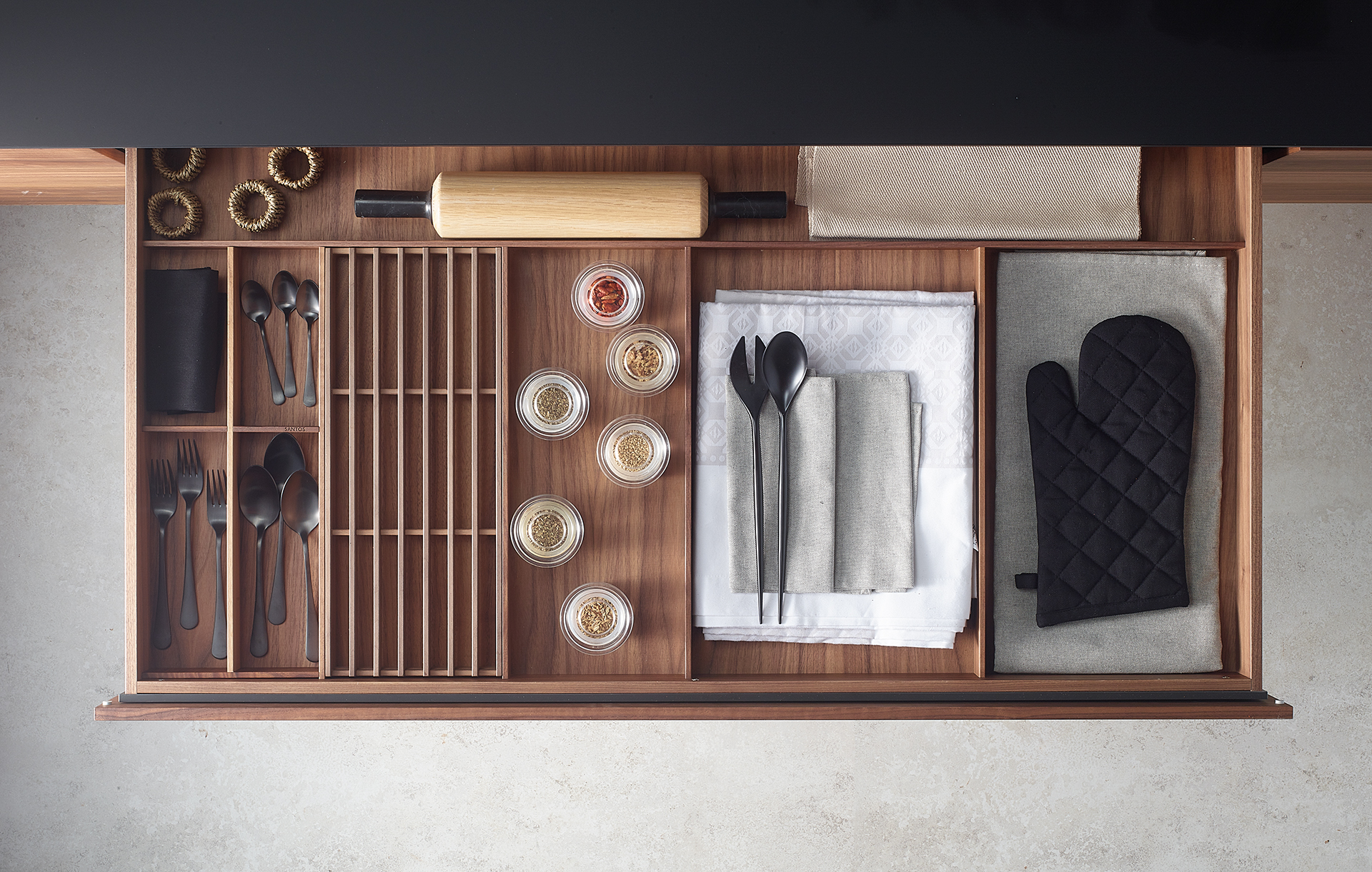 Cajón para pan accesorios de cocina Santiago Interiores