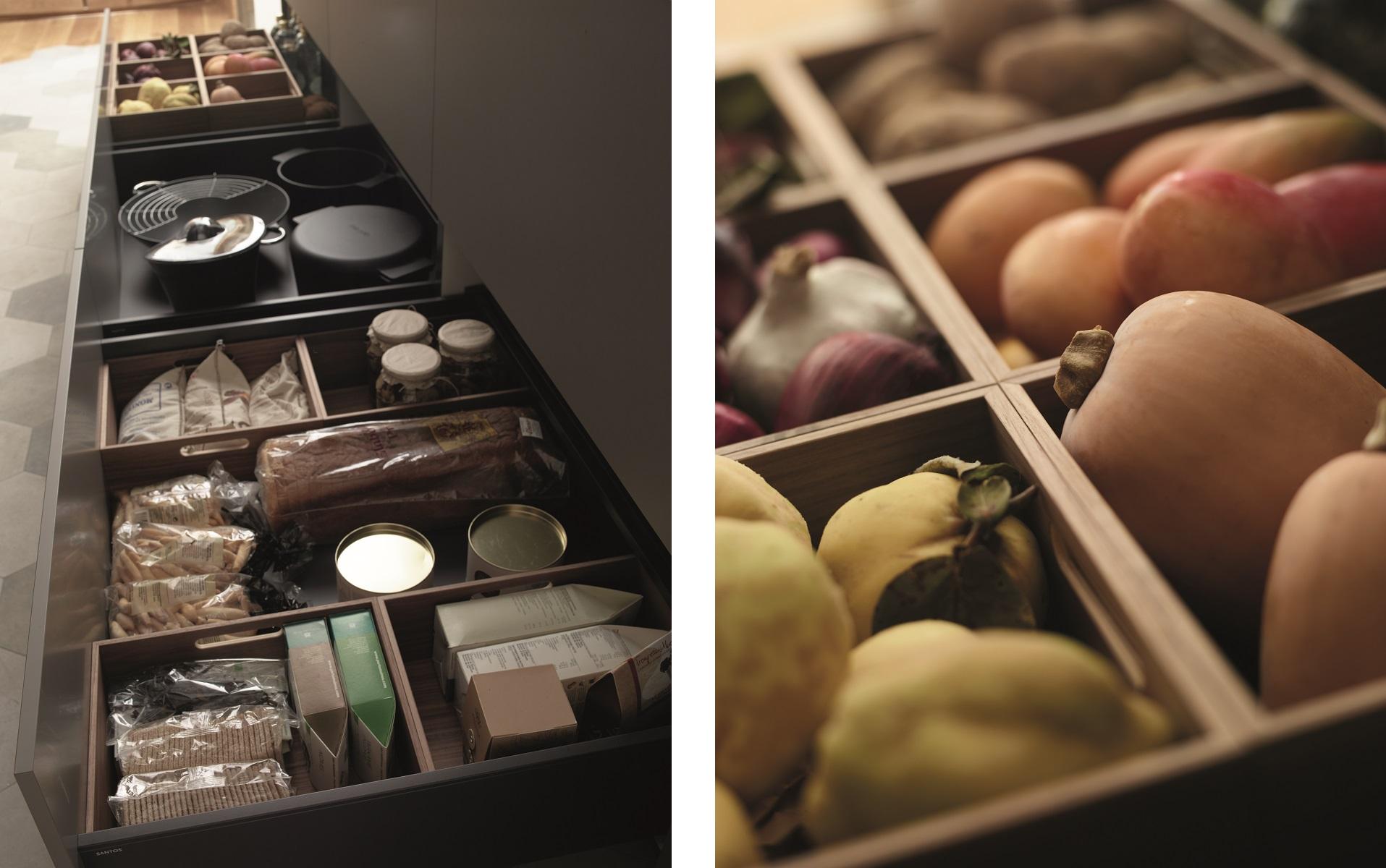 Organizadores extraíbles de armarios de cocina Santos