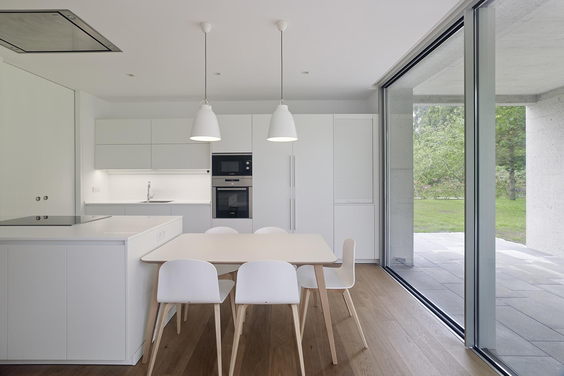 Cocinas blancas Santiago Interiores