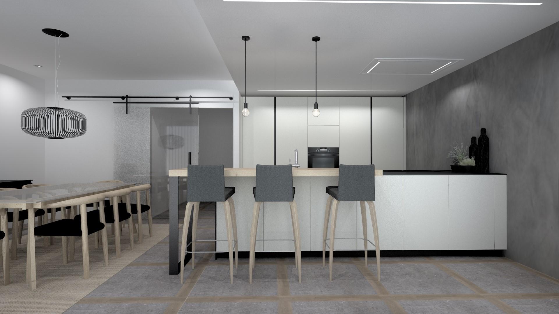 Barras de cocina de madera Santiago Interiores