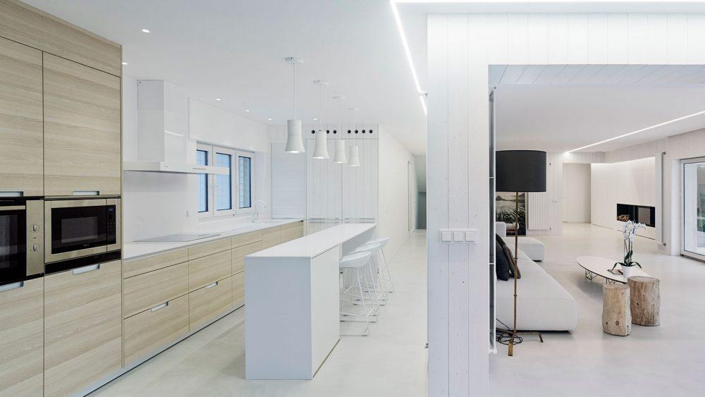 Cocinas con barra Santiago Interiores