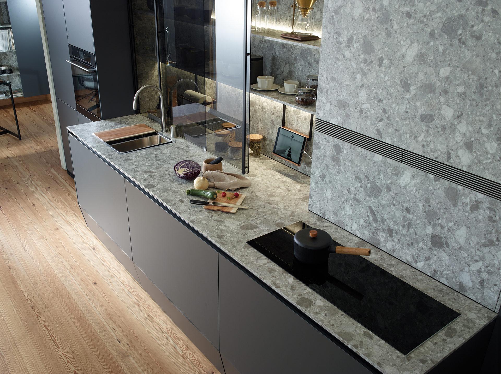 Cocinas con piedra natural. Tendencias Santos