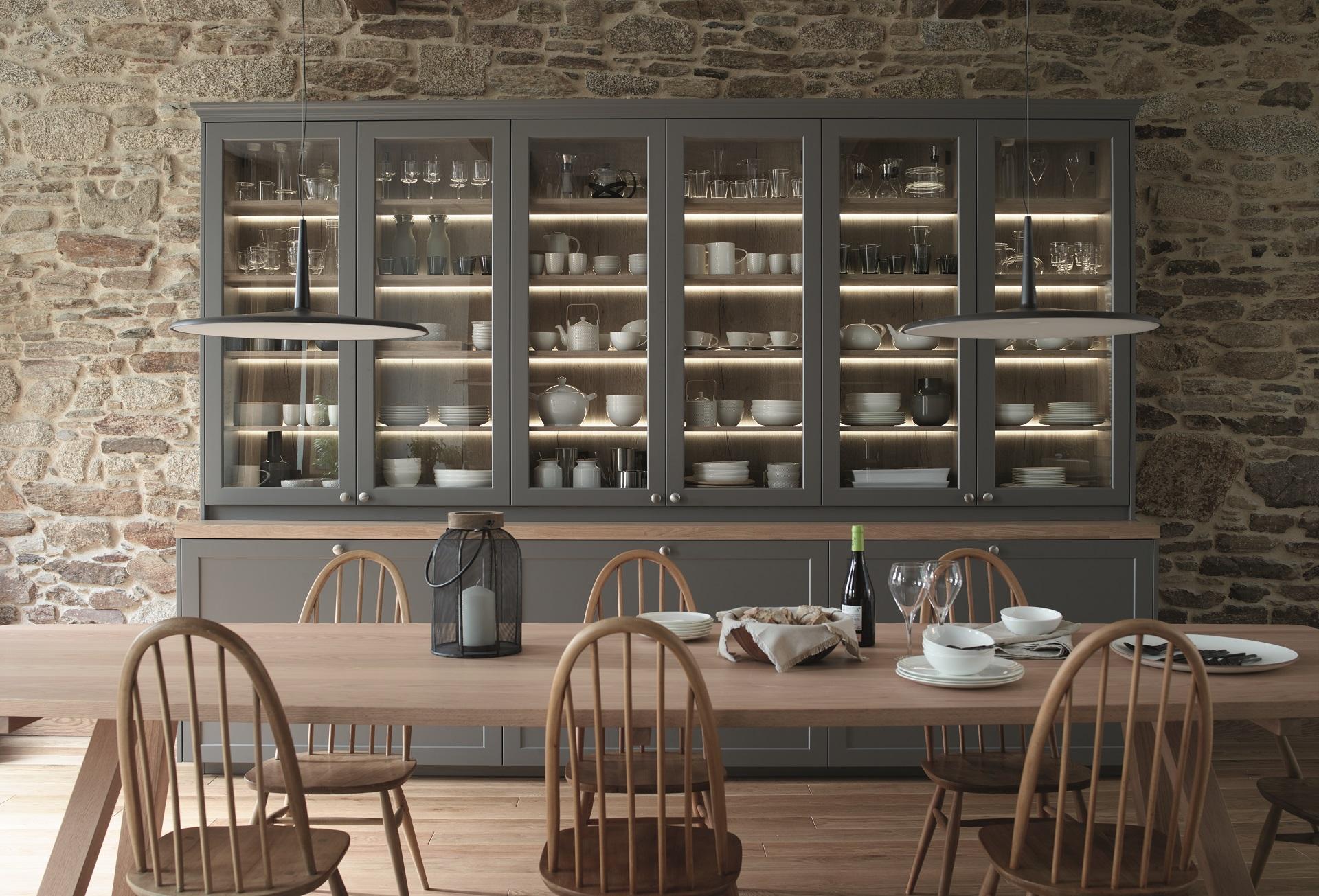 Cocinas con vitrinas. Tendencias Santiago Interiores