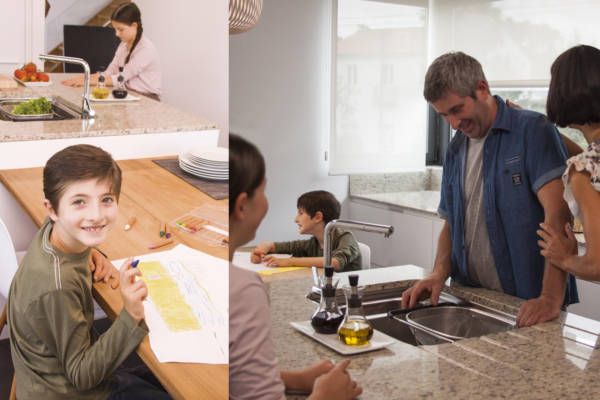 Cocina como zona de estudios Santiago Interiores