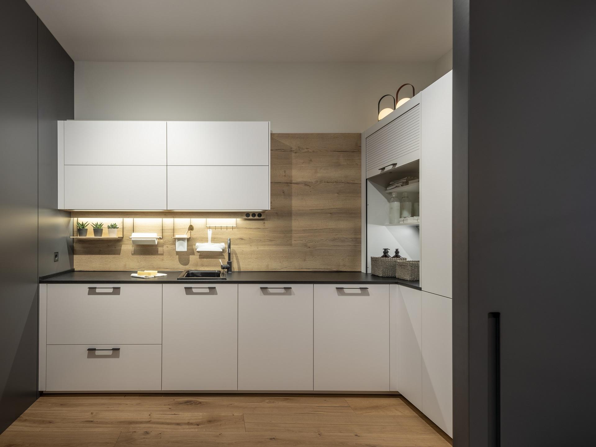 Exposición cocina con lavandería Santiago Interiores