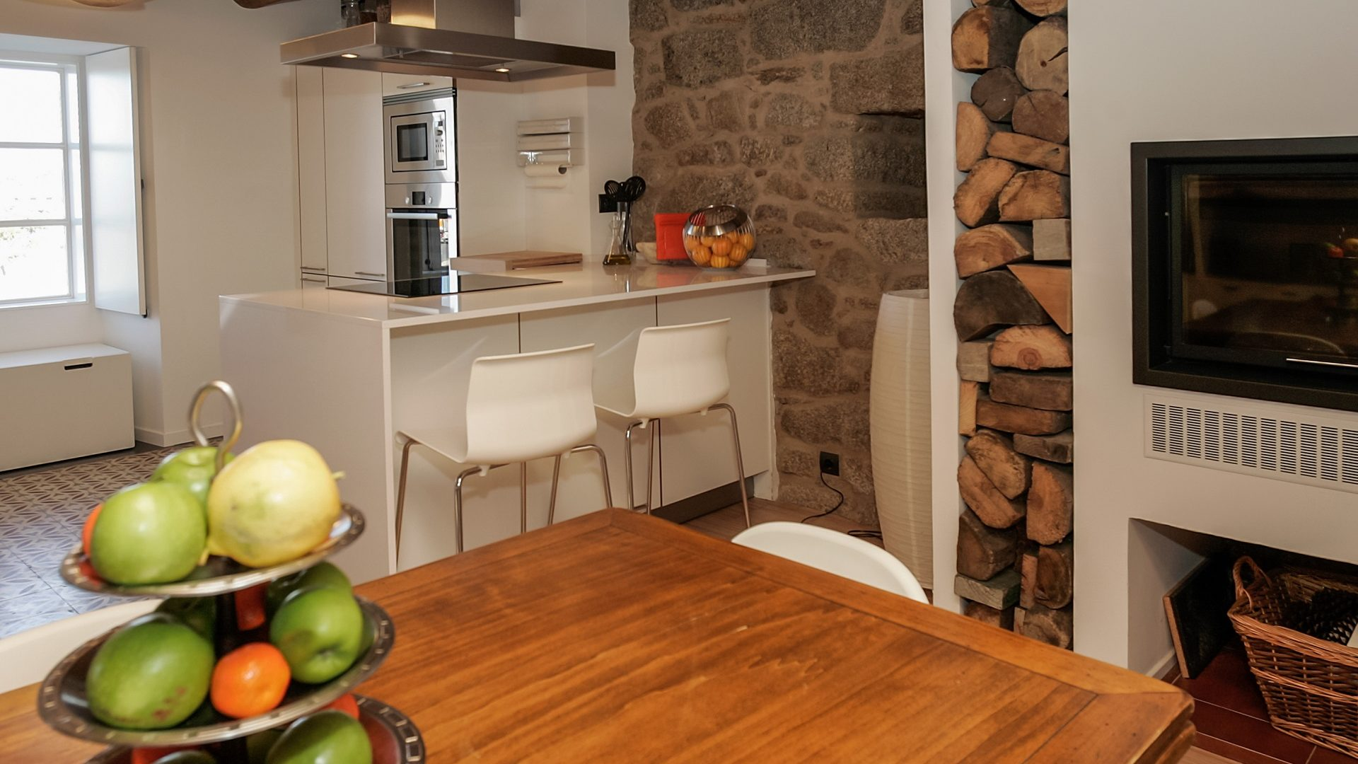 Cocina americana pequeña Santiago Interiores