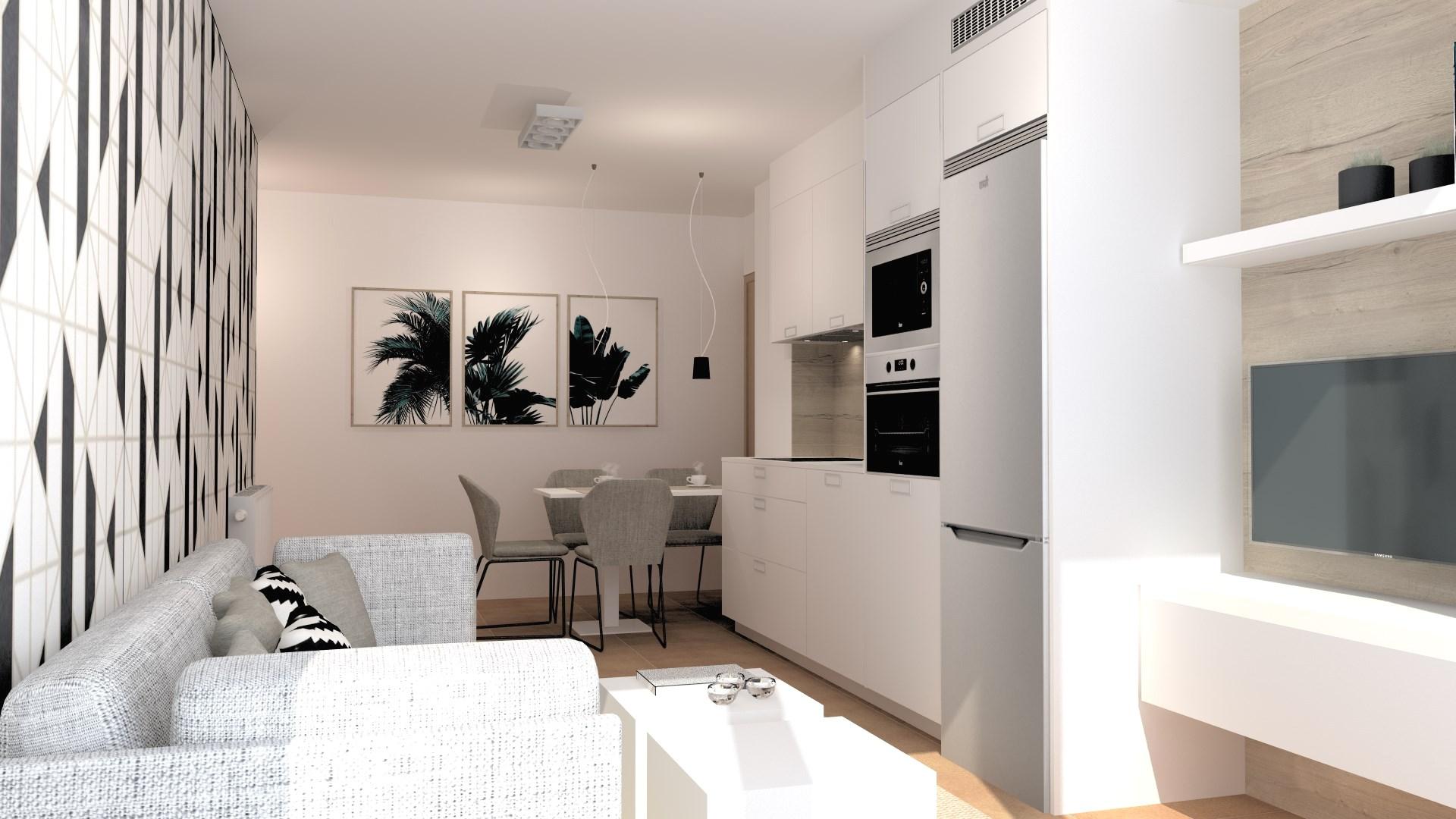 Cocinas blancas pequeñas Santiago Interiores