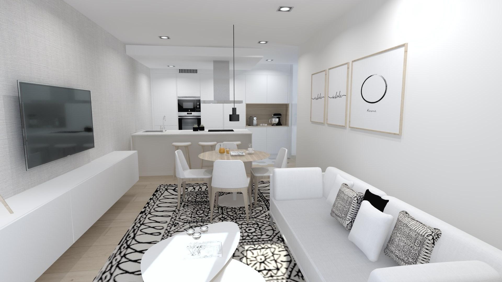Cocinas blancas funcionales Santiago Interiores