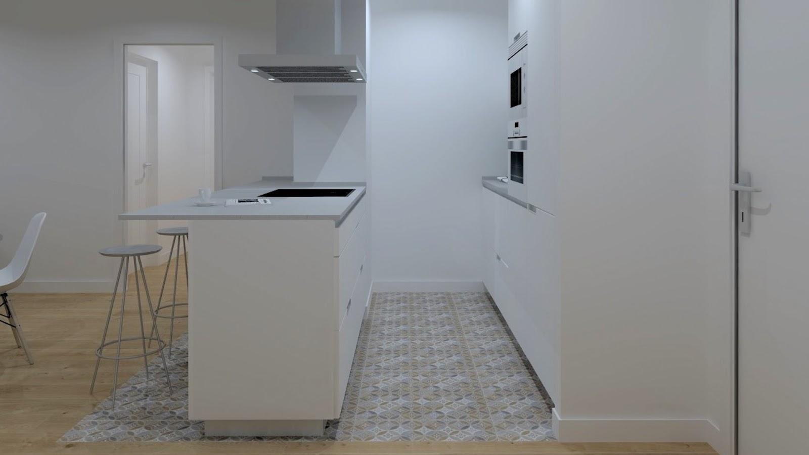 Cocinas funcionales con barra Santiago Interiores