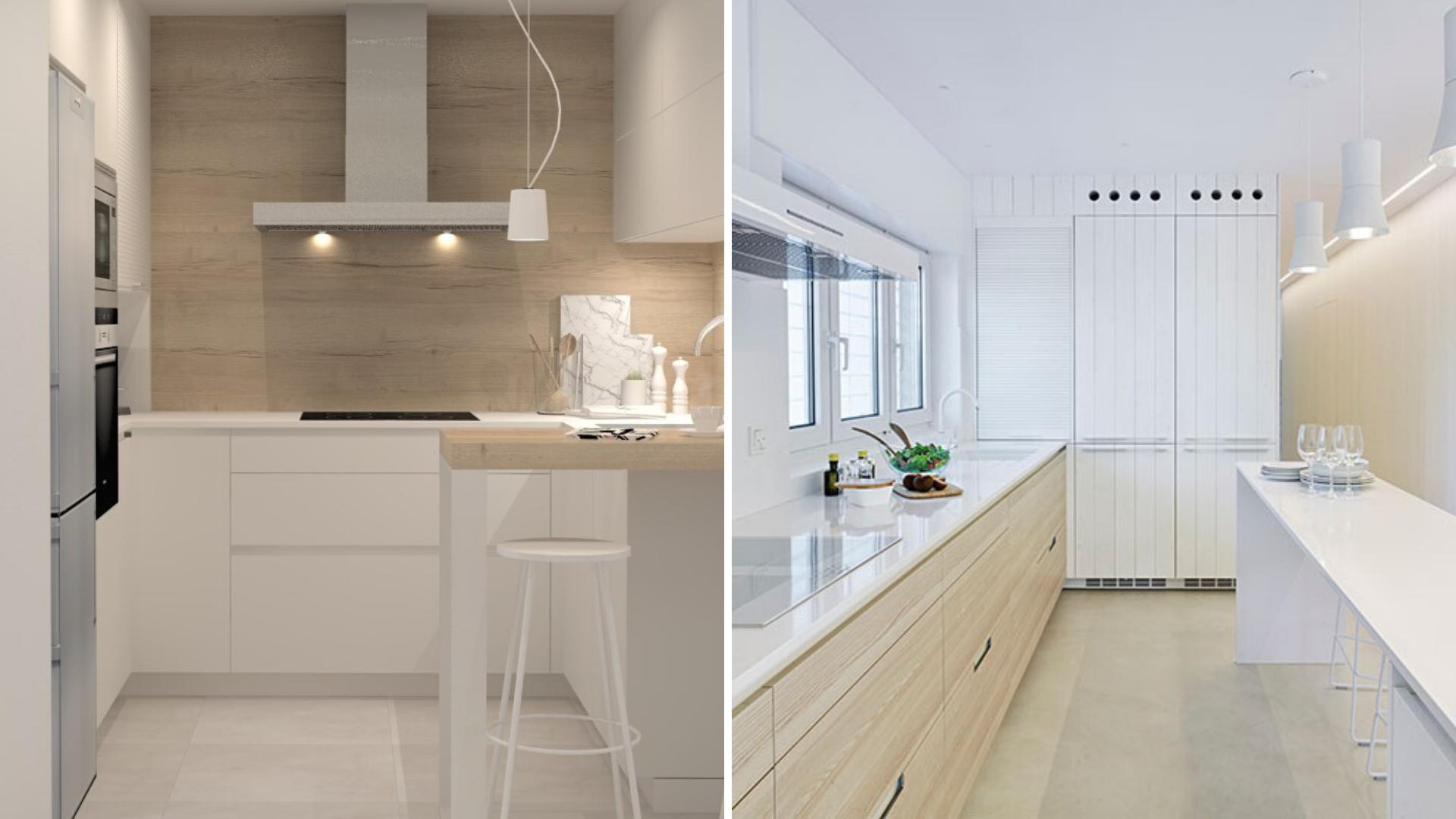 Cocinas funcionales con muebles con cajones Santos