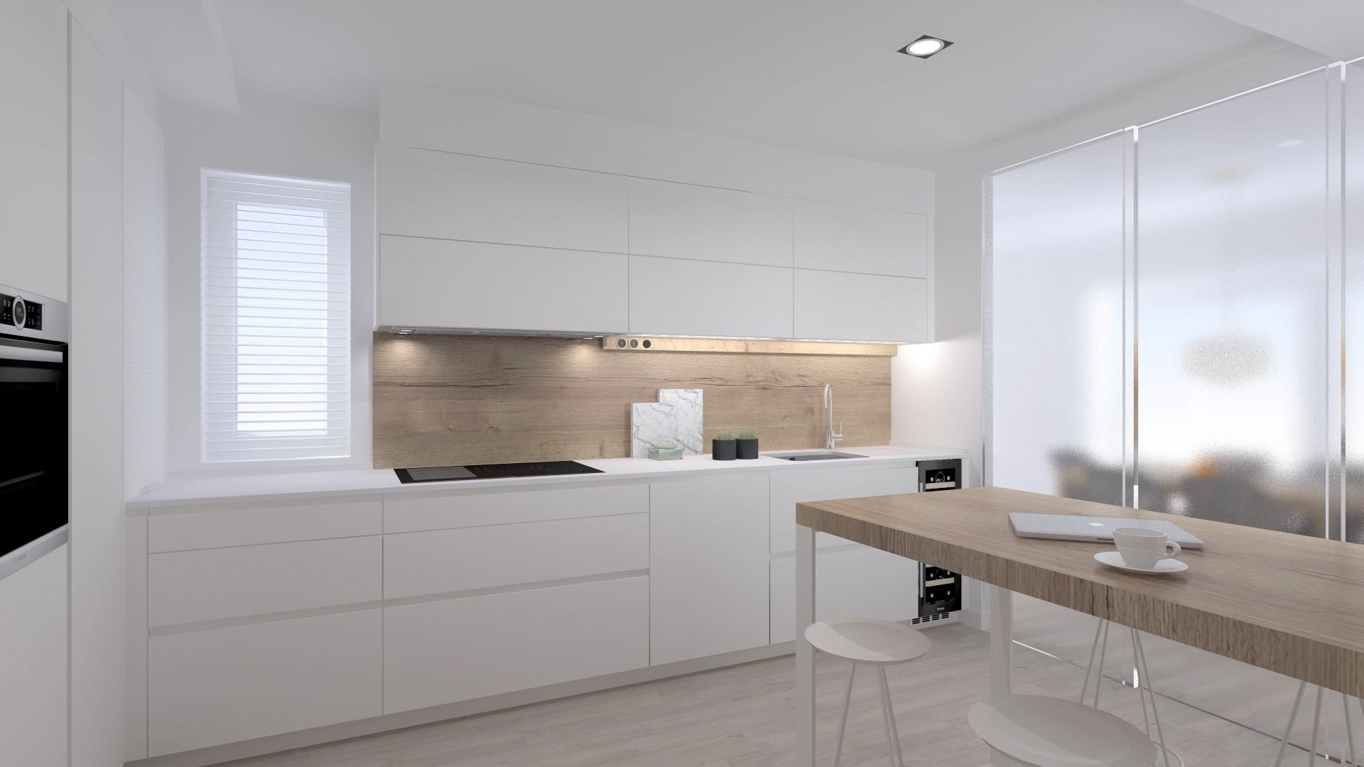 Ideas para reformar cocinas blancas Santiago Interiores