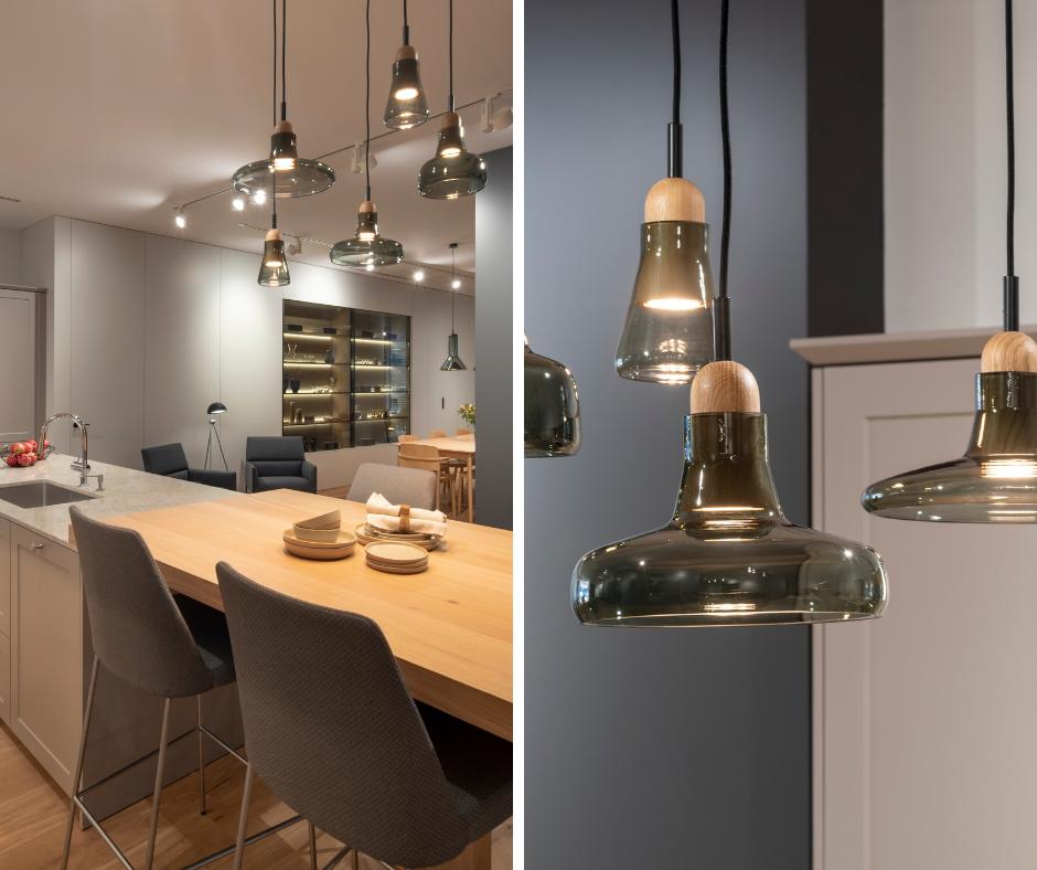 Iluminar cocina con barra Santiago Interiores