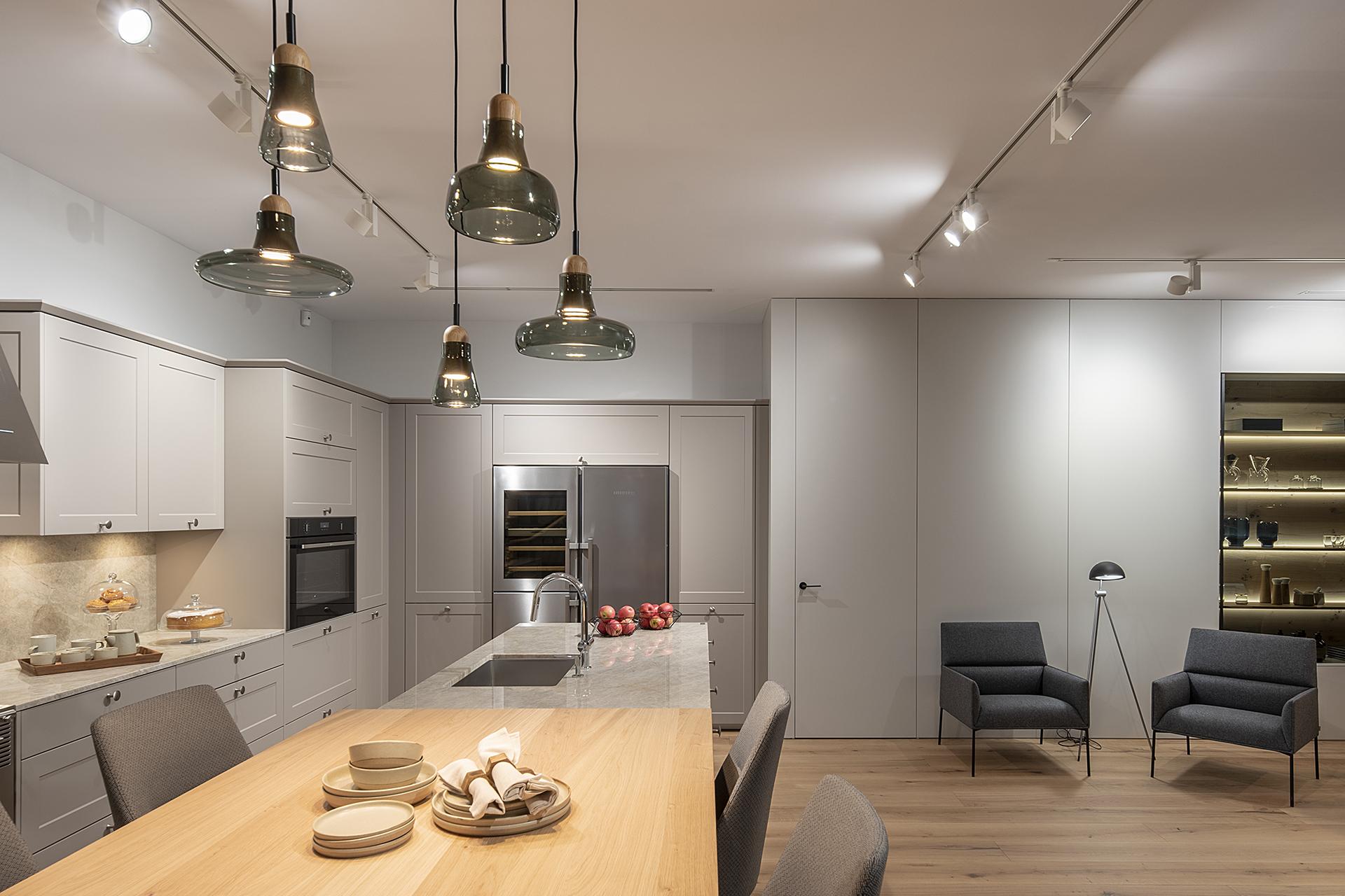 Showroom de Cocinas Santos en Santiago Interiores