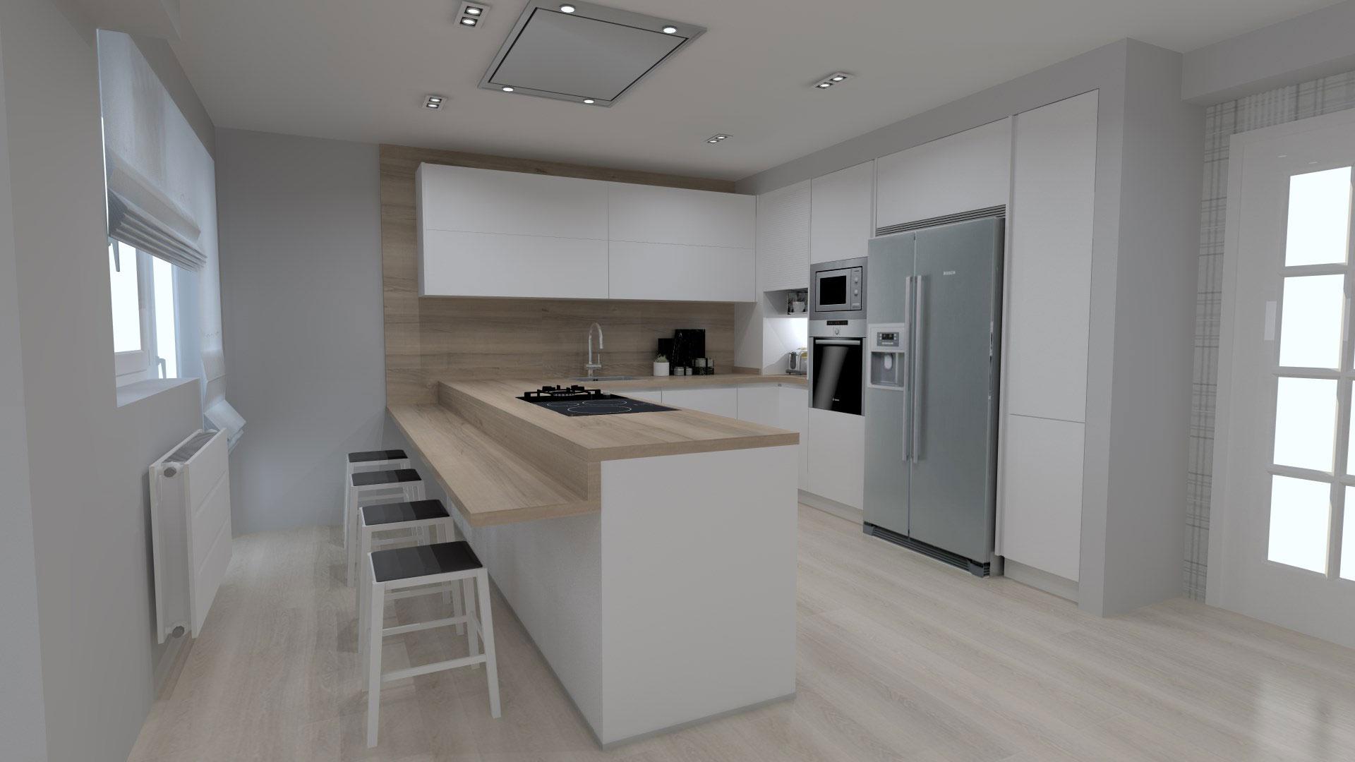 Una cocina para vivir. Proyecto Santiago Interiores