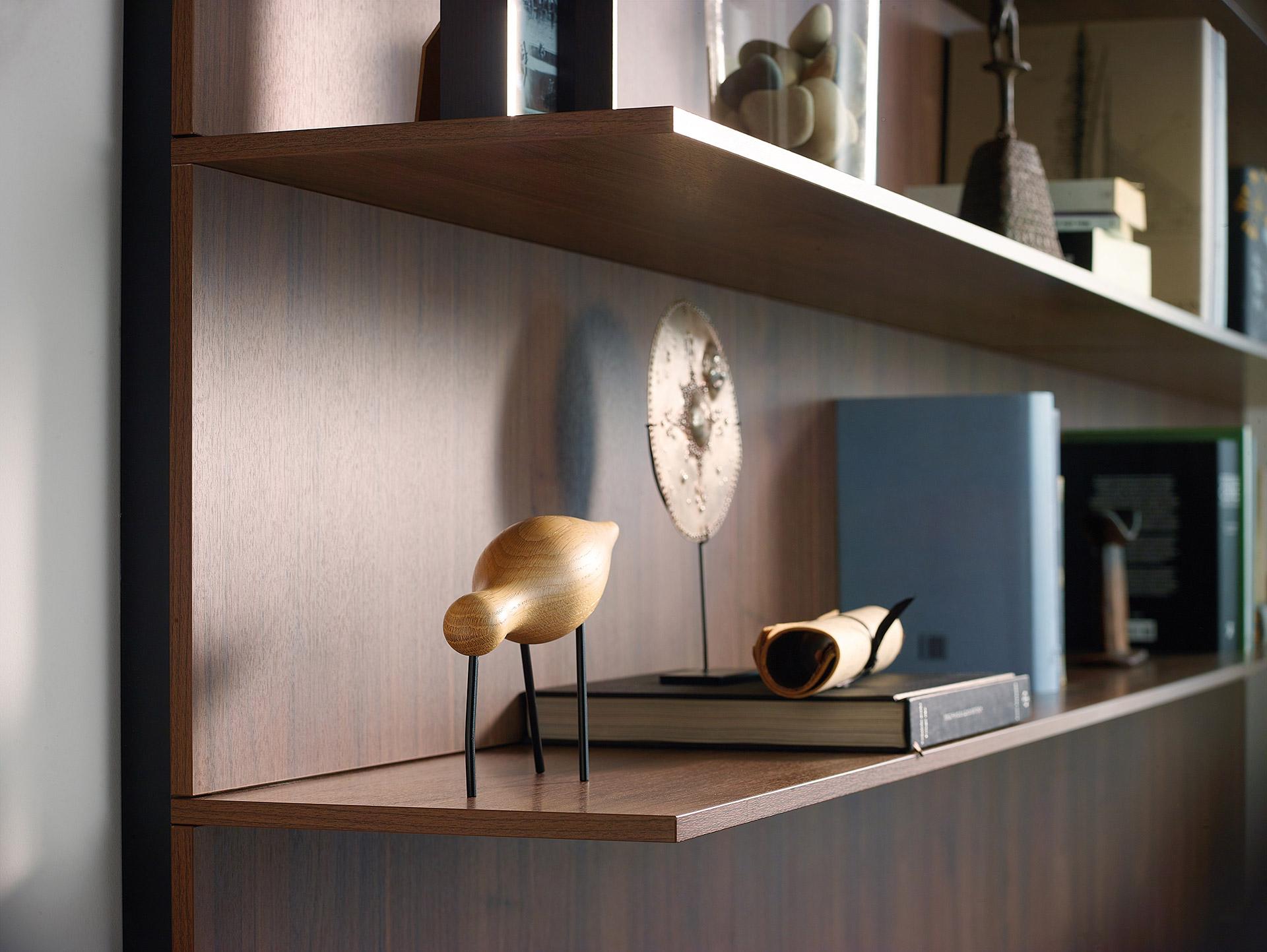 Muebles de Hogar en Santiago Interiores. Detalle Estantería