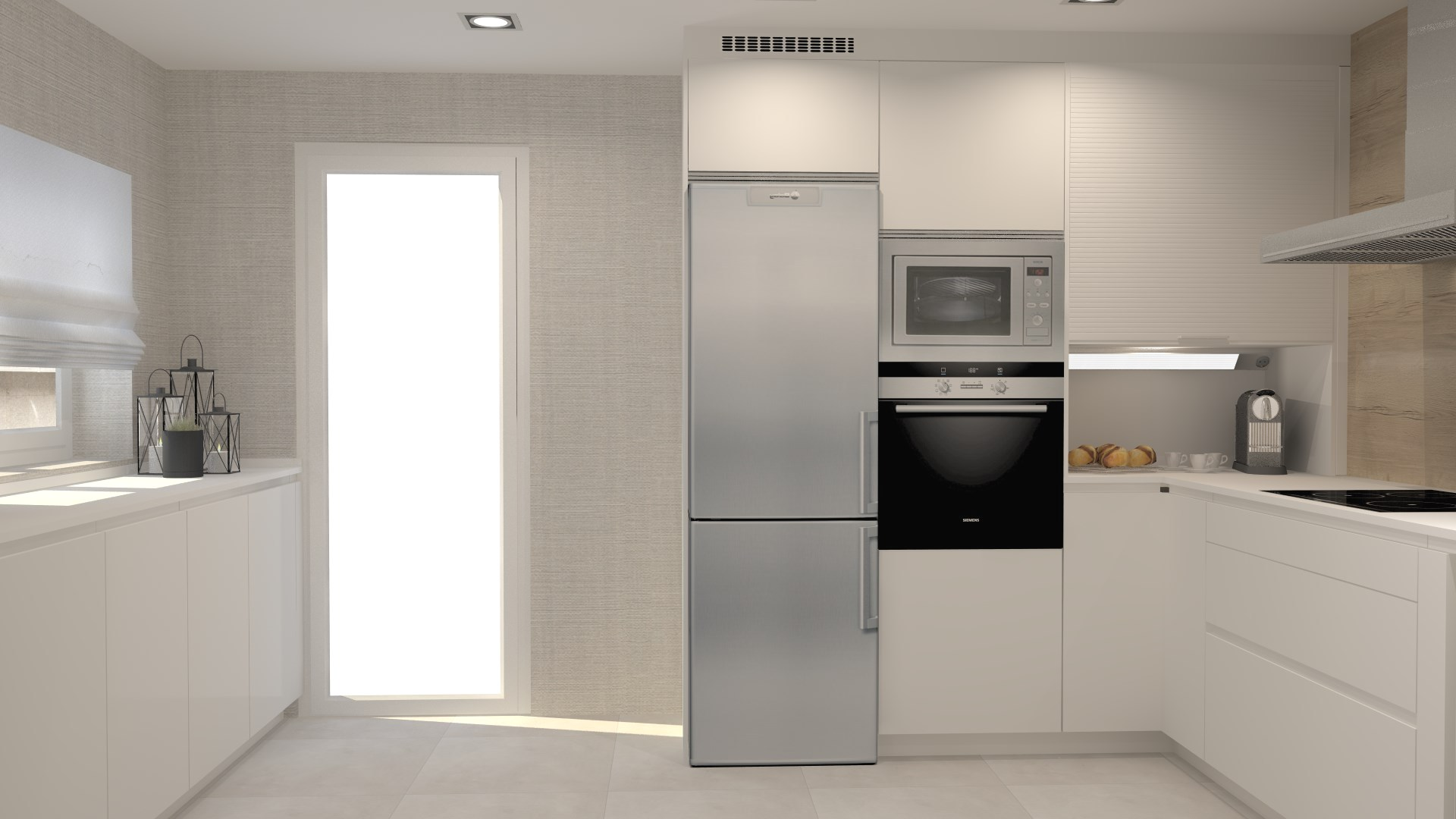 Cocinas con encanto blancas y luminosas Santiago Interiores