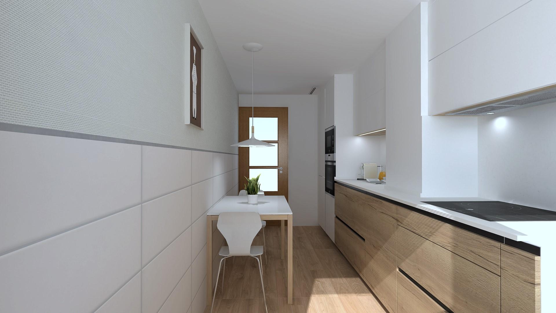 Cocinas de madera pequeñas Santiago Interiores